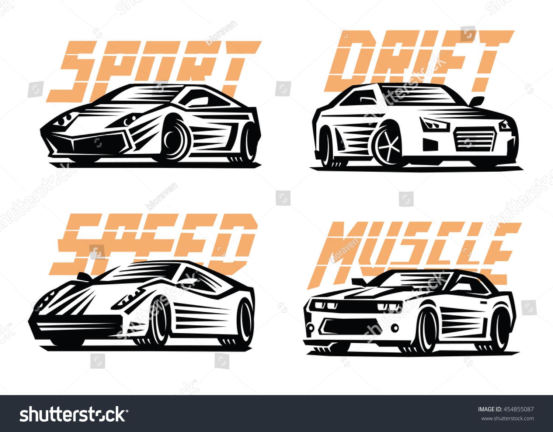 Design car emblem - Vector Illustration Of A Sport Cars Emblem