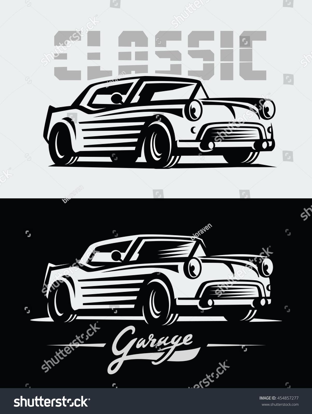 Design car emblem - Vector Illustration Of A Retro Cars Emblem