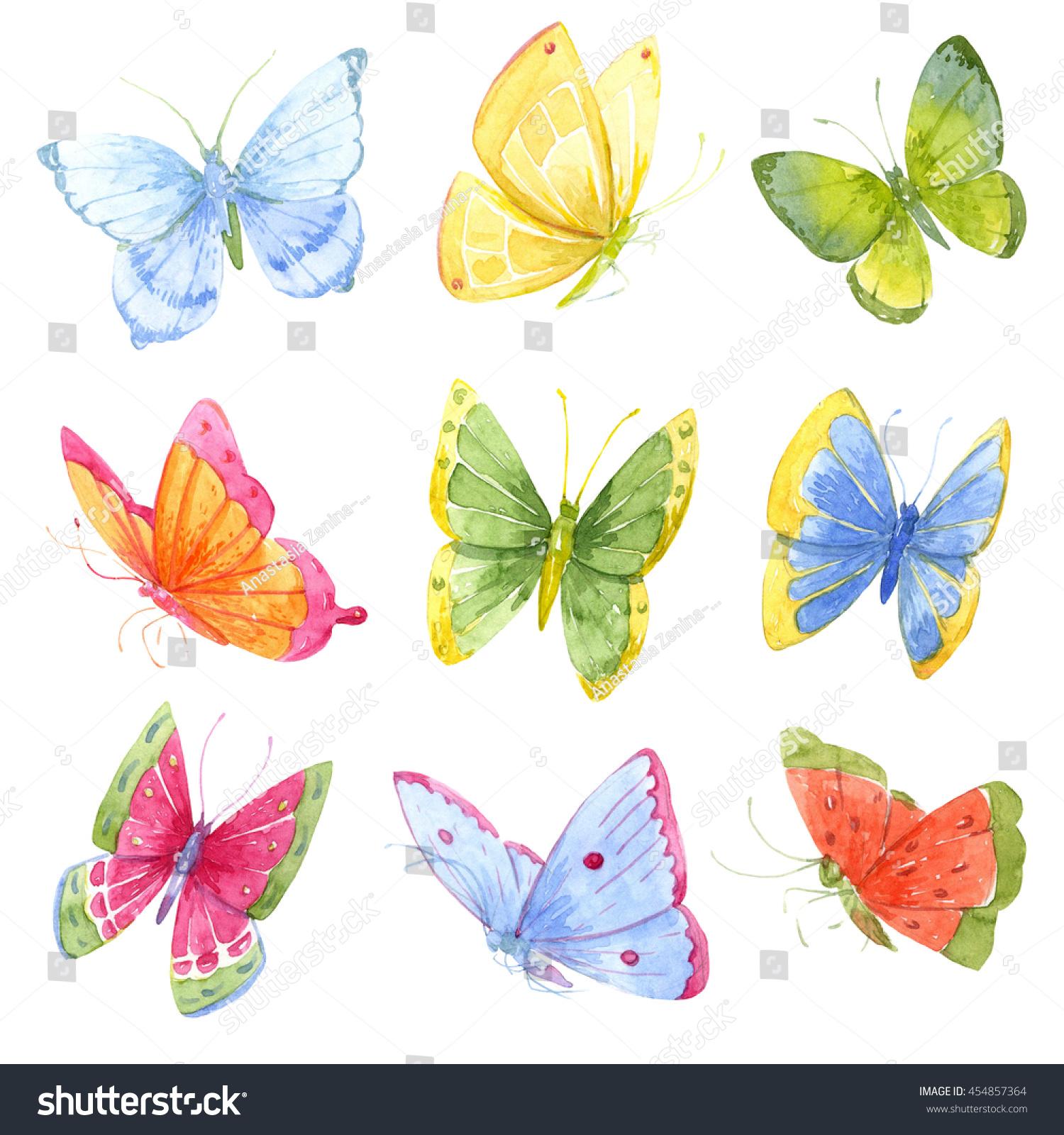 Uncategorized Images Of Butterflies For Children watercolor butterfly bright set butterflies stock a of children print