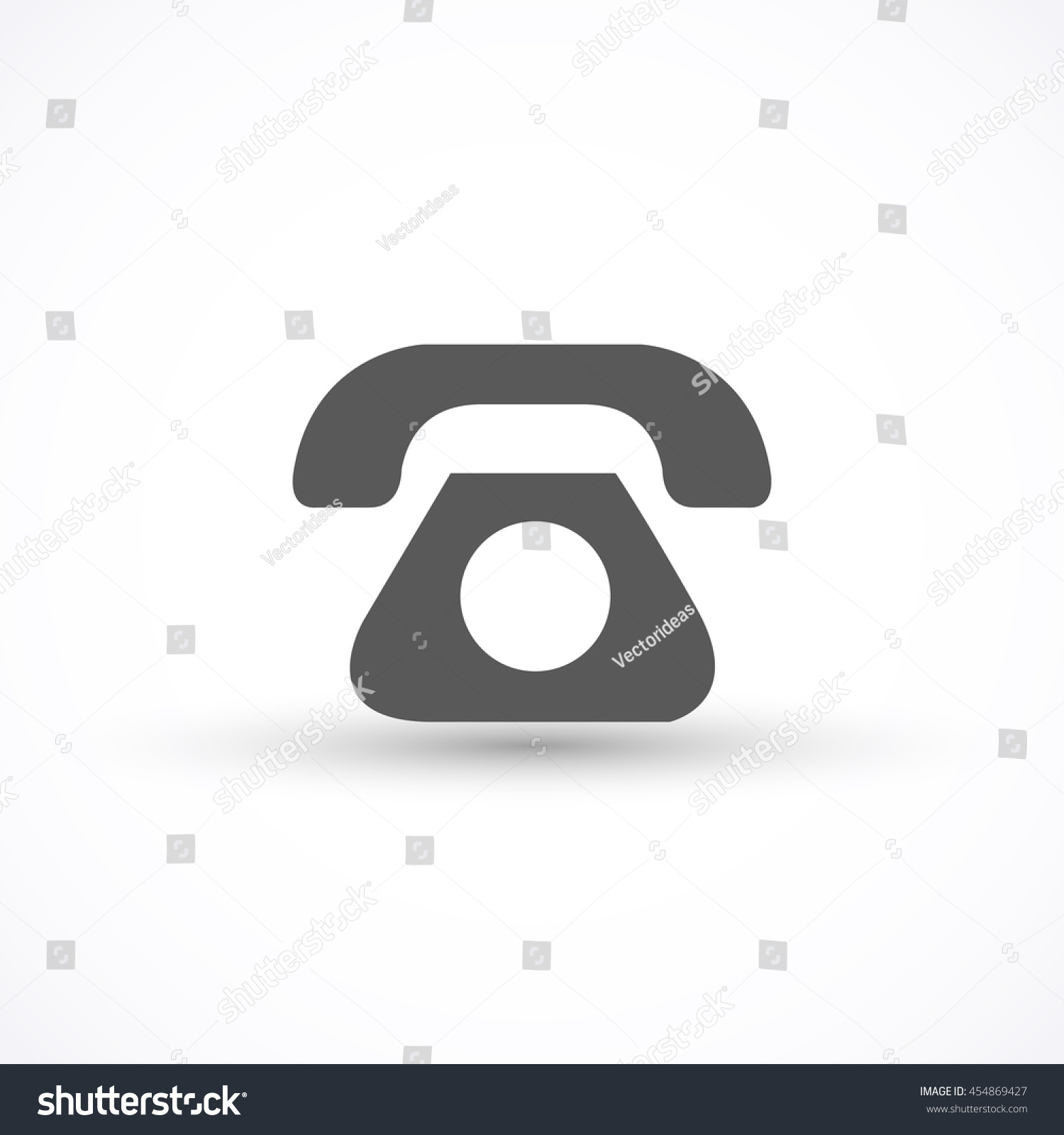 Phone Icon Vector Isolated On White Stock Vector Royalty Free