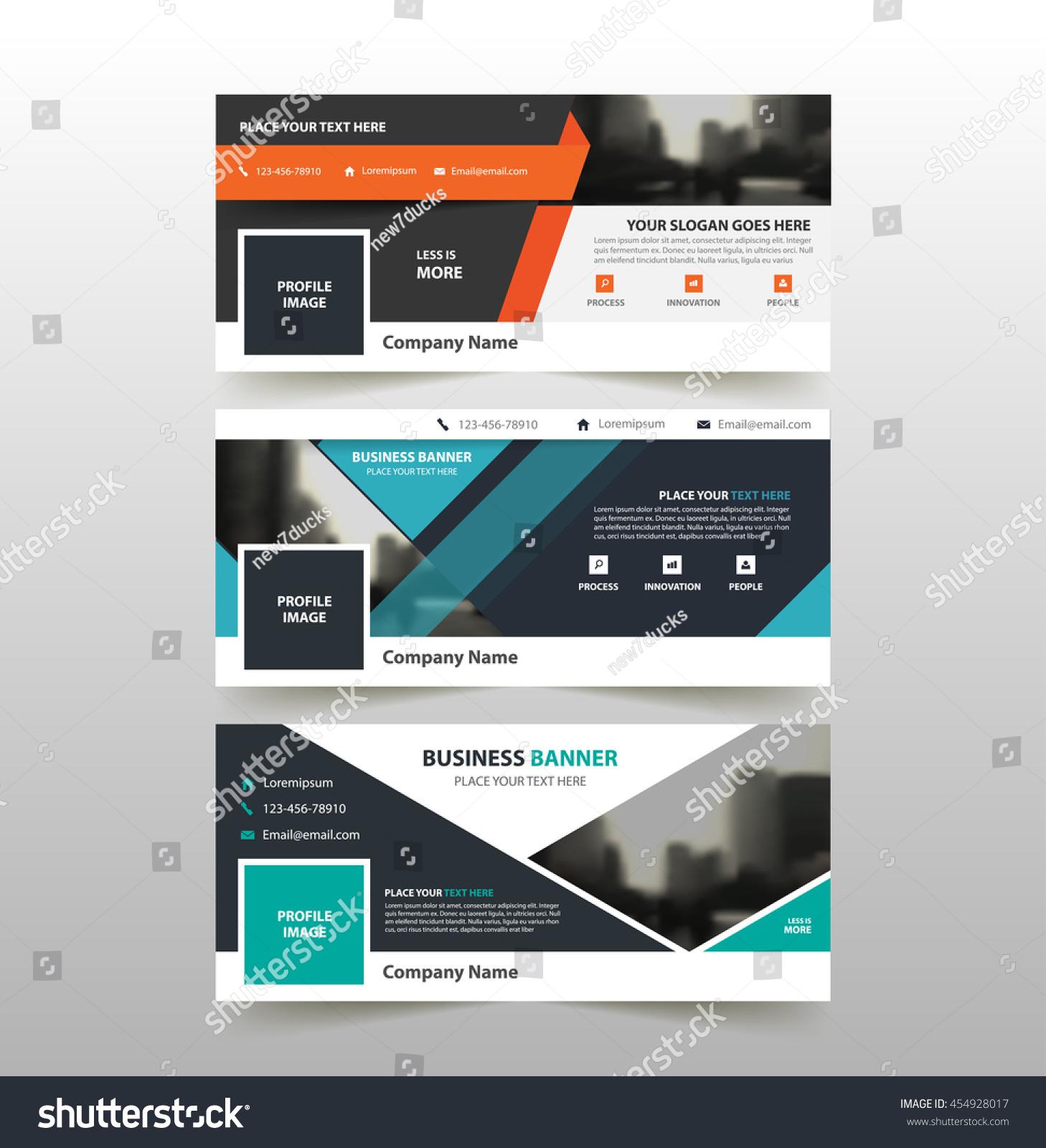 Orange Blue Green Corporate Business Banner Stock Vector 454928017 ...