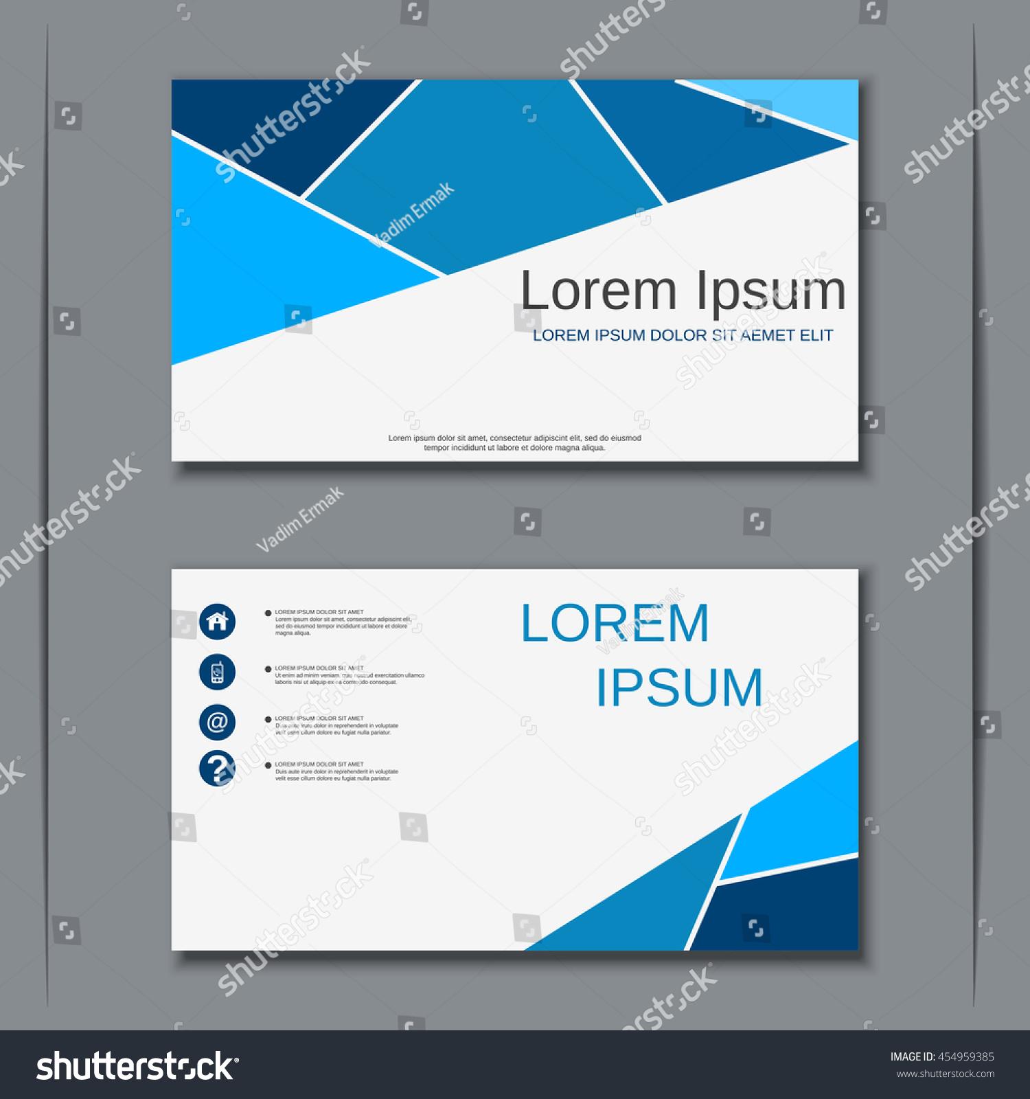 Modern Blue Business Visiting Card Vector Stock Vector 454959385 ...