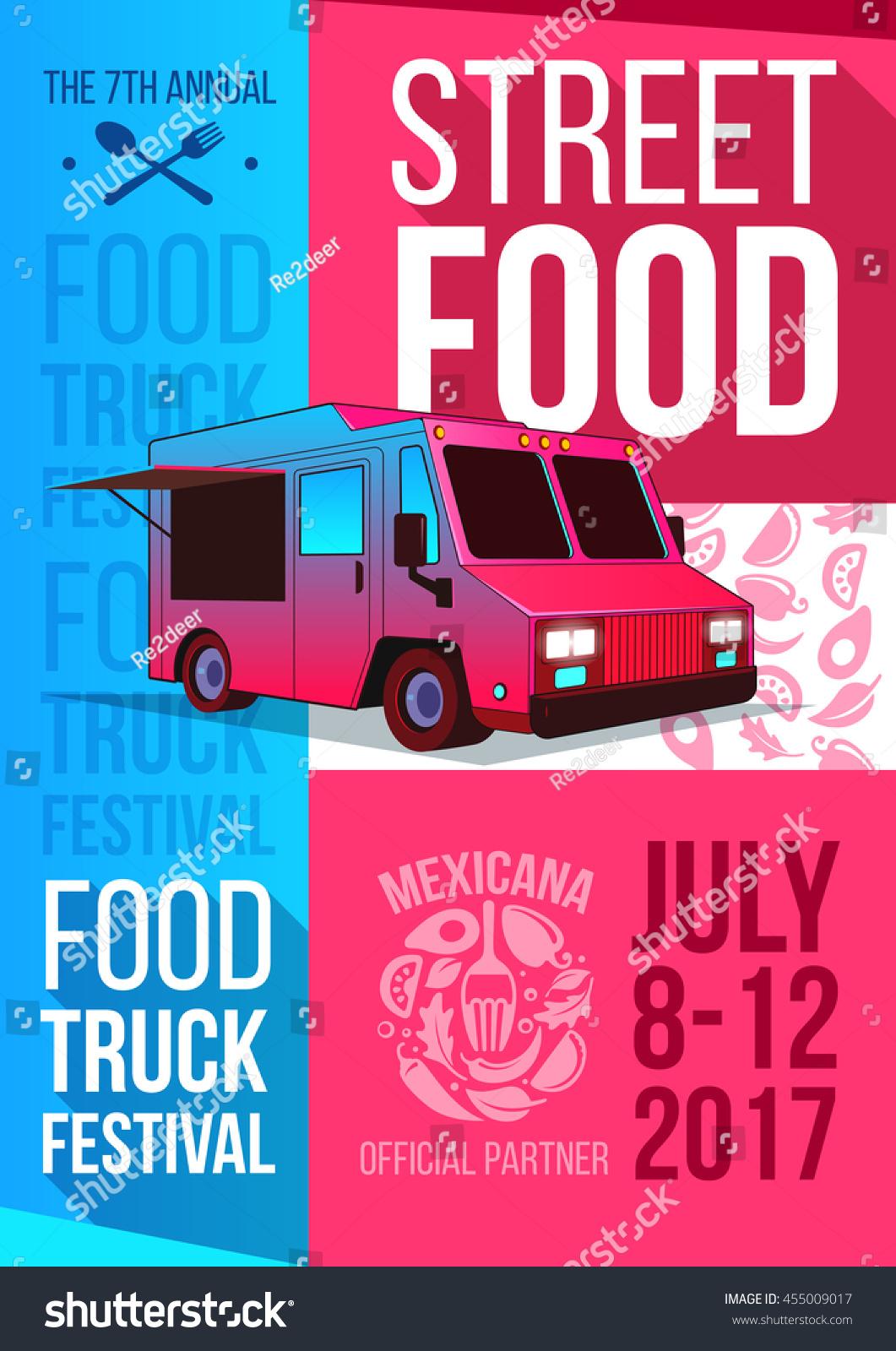food truck festival food brochure vector stock vector 455009017 shutterstock. Black Bedroom Furniture Sets. Home Design Ideas