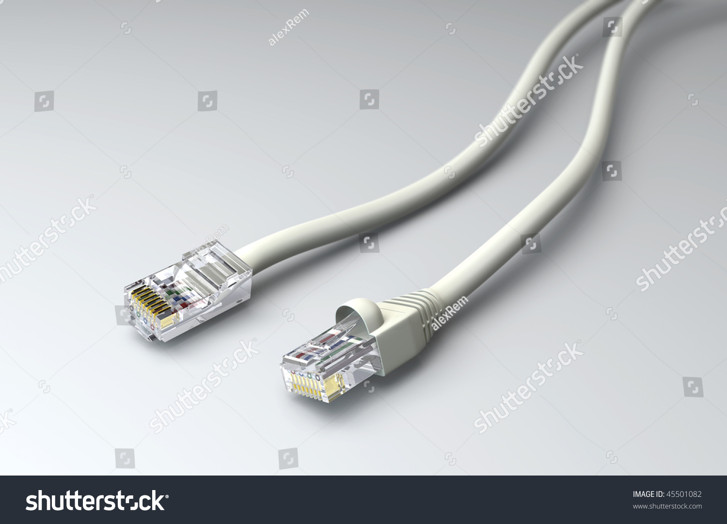 Two Wire Connectors 3 D Model Stock Illustration 45501082 - Shutterstock