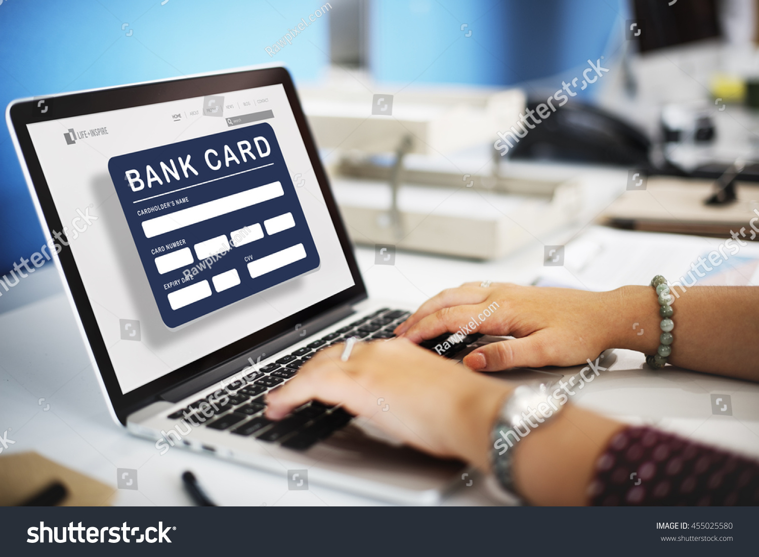Account Atm Card Bank Finance Concept Stock Photo ...