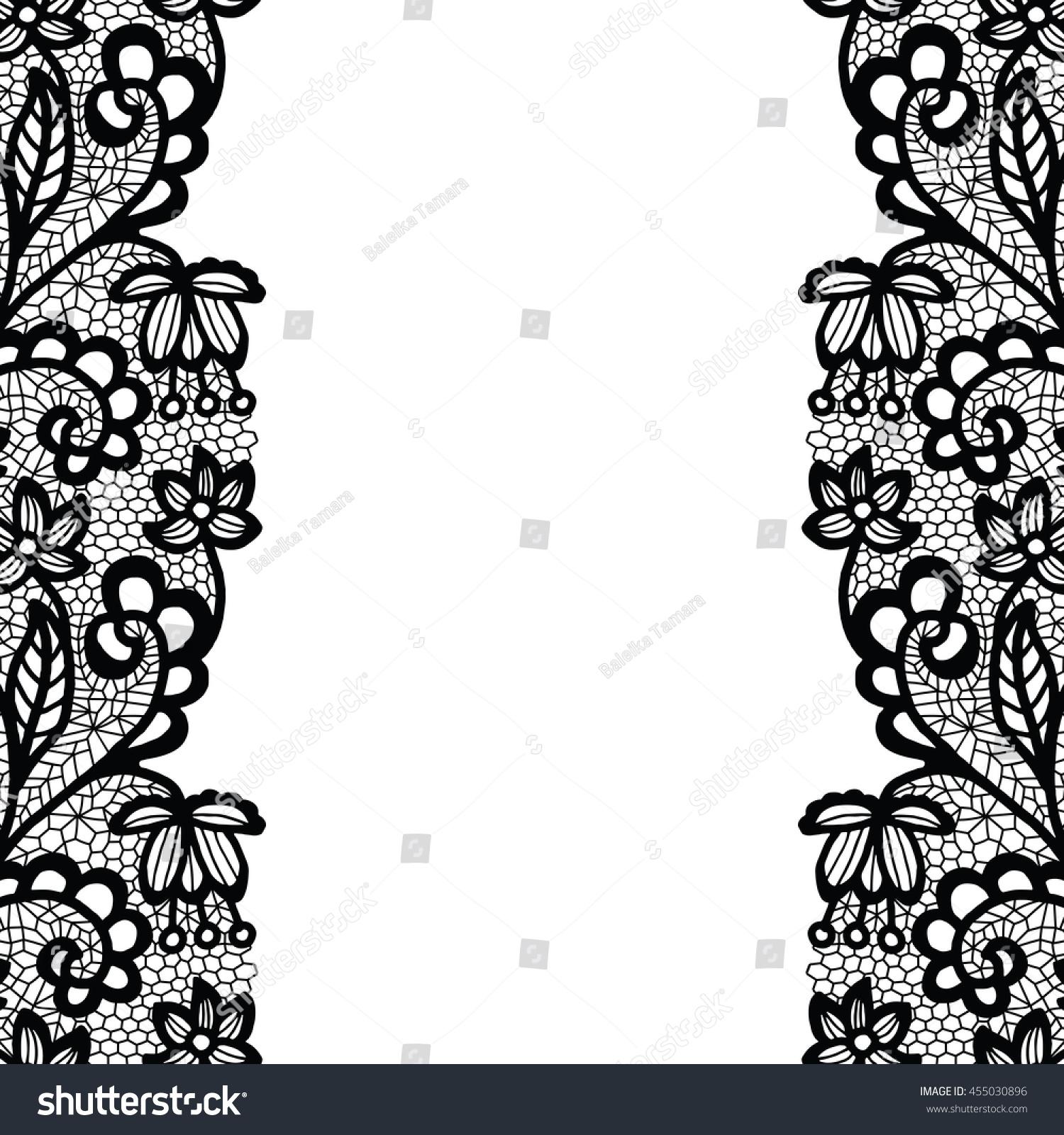 seamless lace border vector illustration white stock vector rh shutterstock com lace border vector png white lace border vector