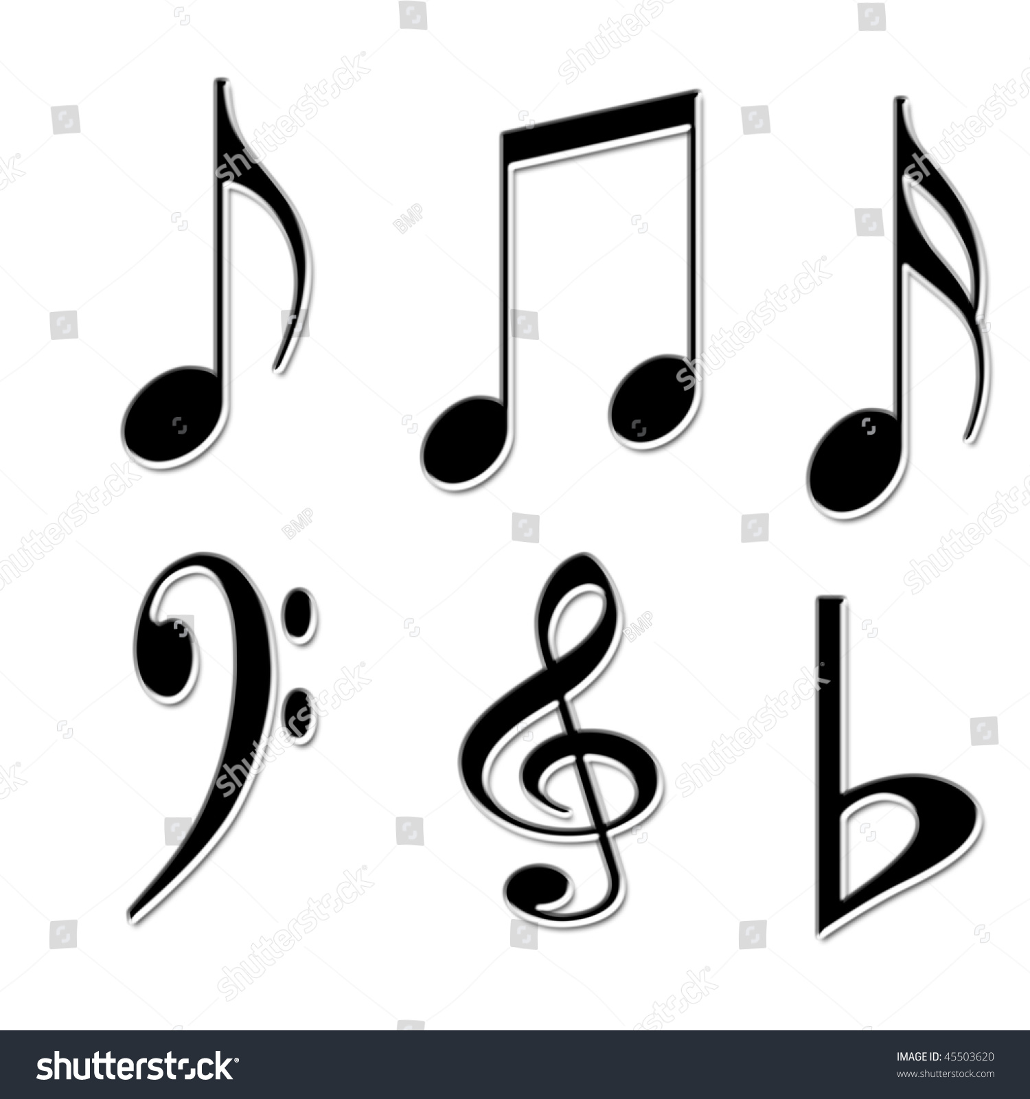Different Kind Of Music Notes As Symbol Of Sheet Music Ez Canvas