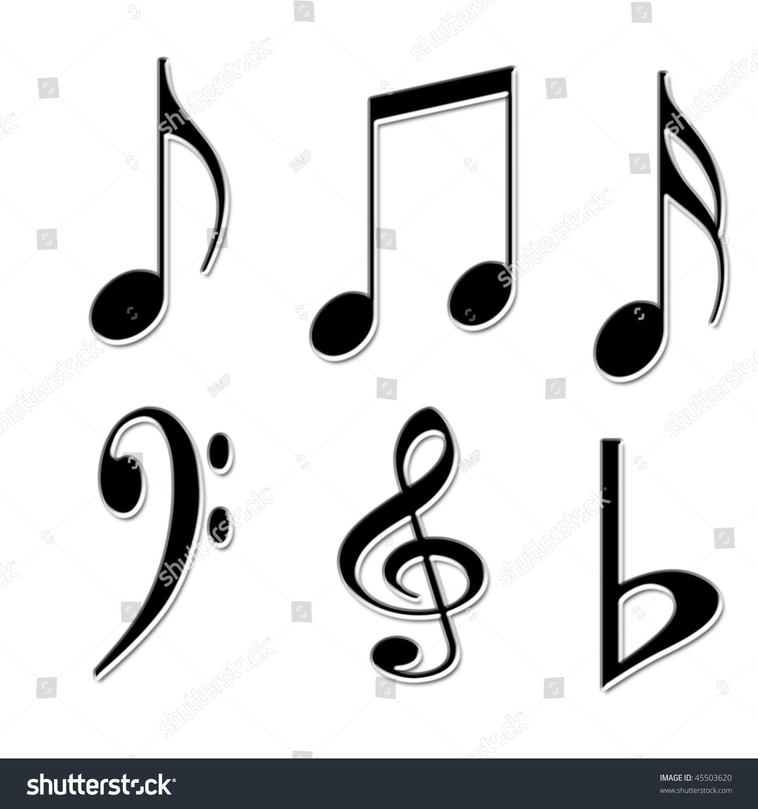 White background music symbols stock illustration 45503620 white background with music symbols buycottarizona Gallery