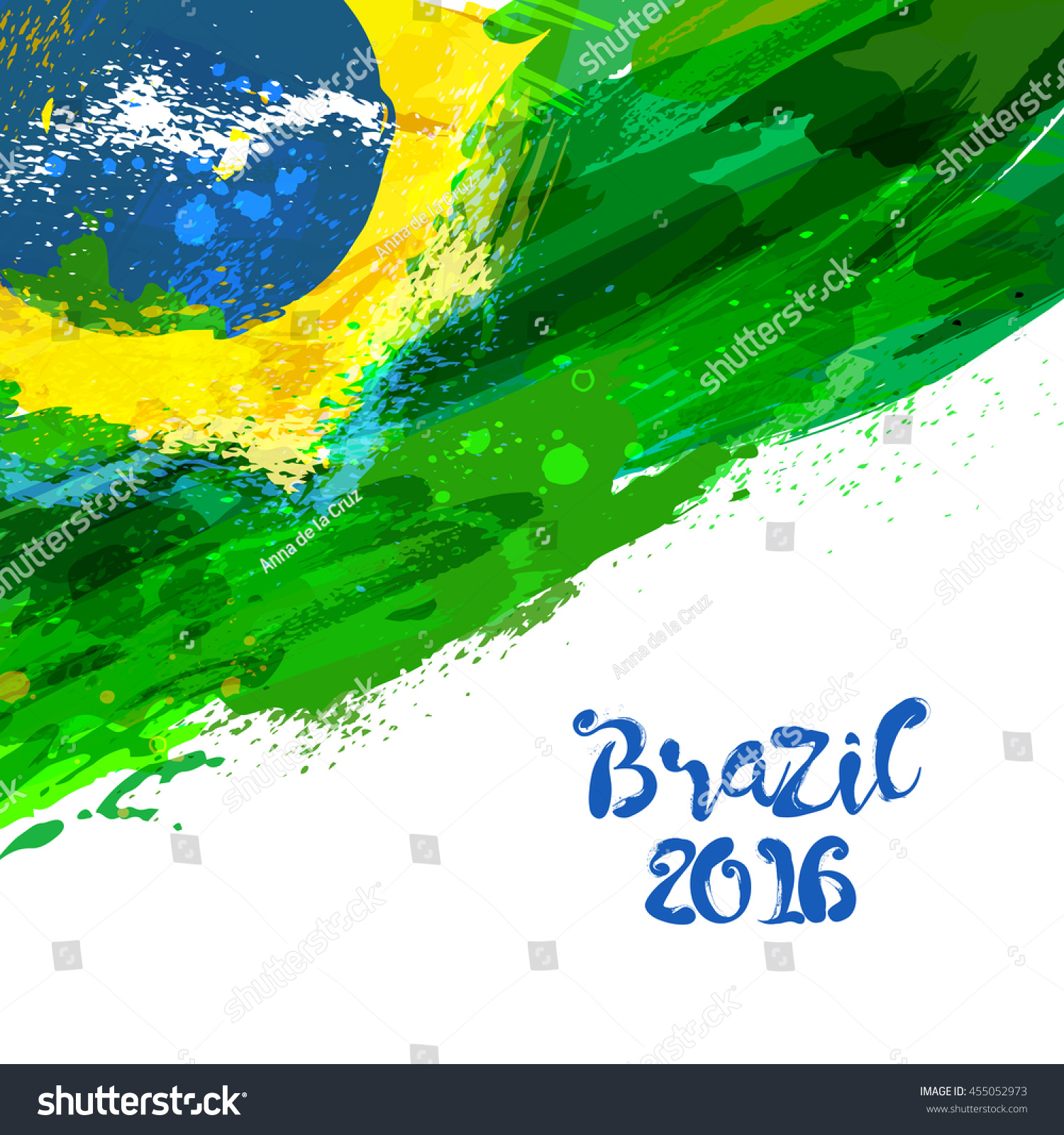 Handmade watercolor brazil flag brasil stock photos freeimages com - Brazilian Watercolor Flag Brasilia 2016 Watercolor Vector National Flag Watercolor Background In Brazilian