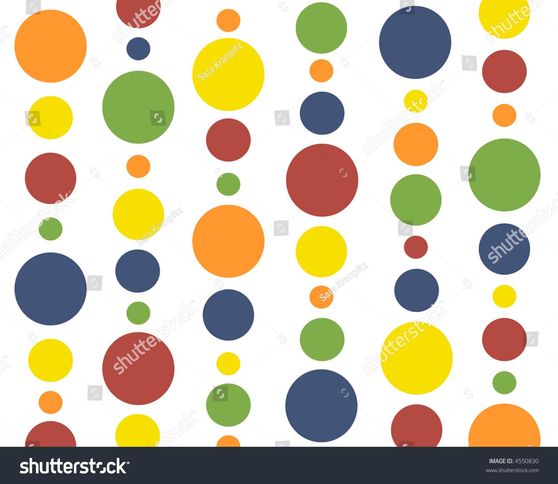 primary colors polkadot background stock illustration