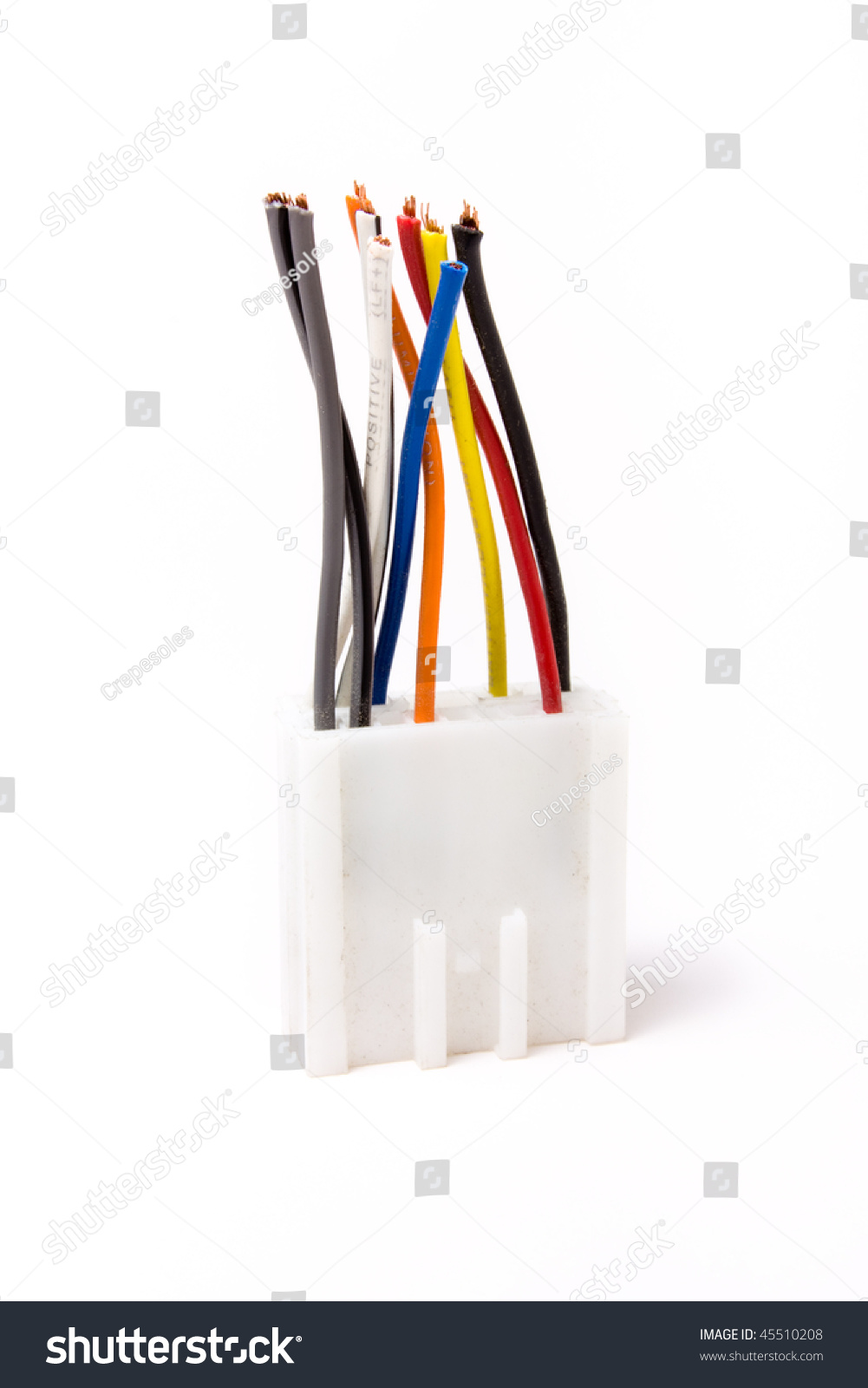 Multi Pin Car Audio Din Connector Stock Photo Edit Now 45510208 Wiring Management Isolated Against White Background