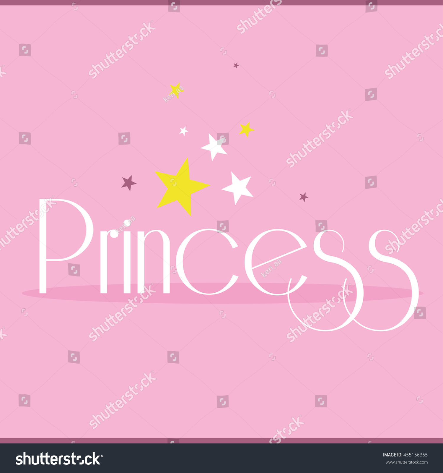 Princess Greeting Card Postcard Poster Birthday Stock Vector