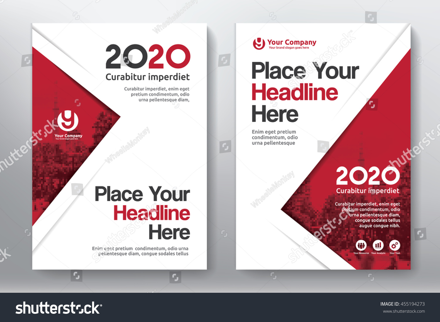 Book Cover Background Color : Red color scheme city background business stock vector