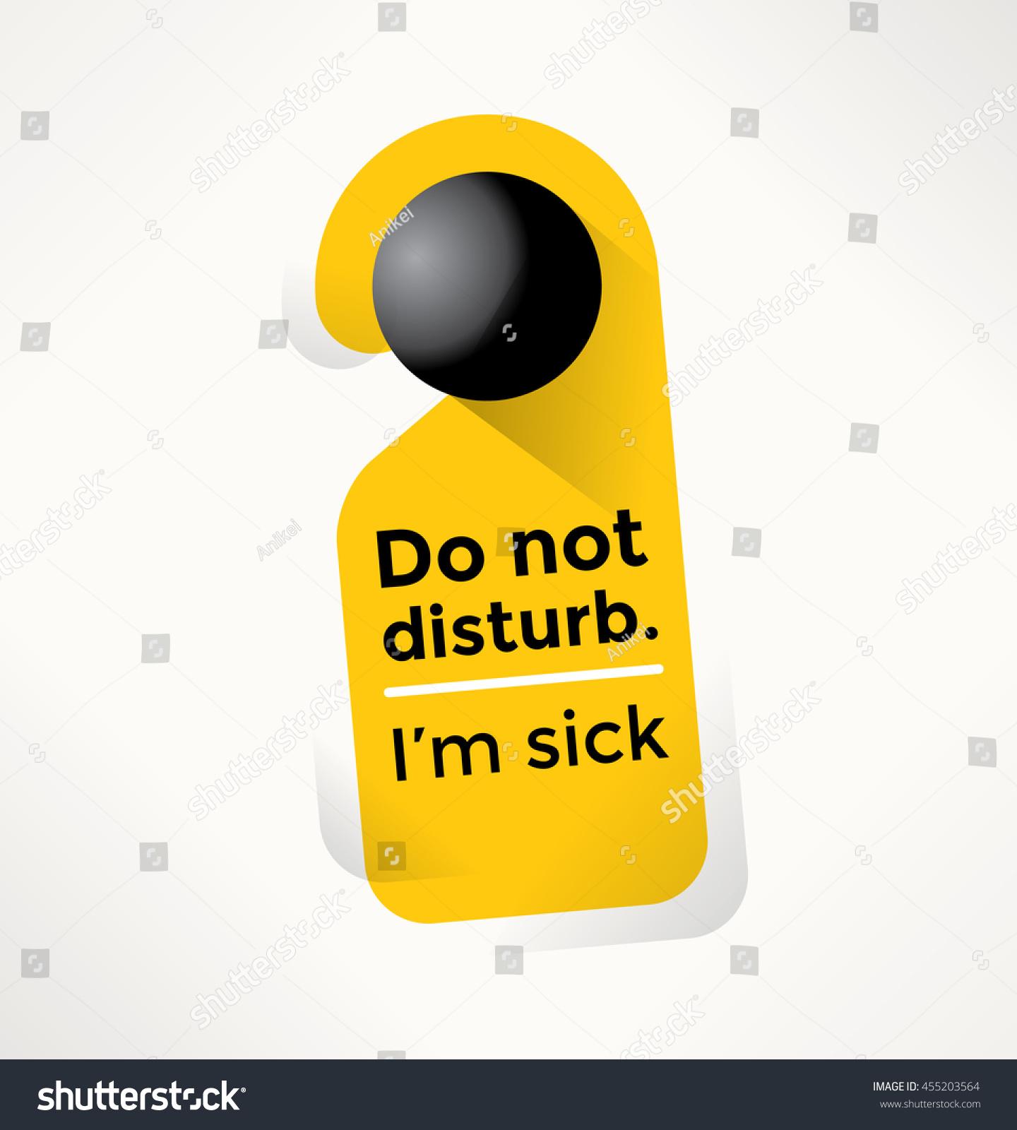 do not disturb door sign sick stock vector royalty free 455203564