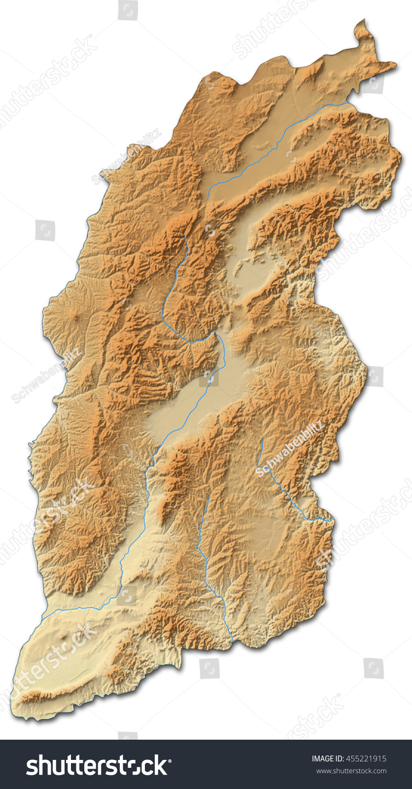 Shanxi China Map.Relief Map Shanxi China 3d Rendering Ez Canvas