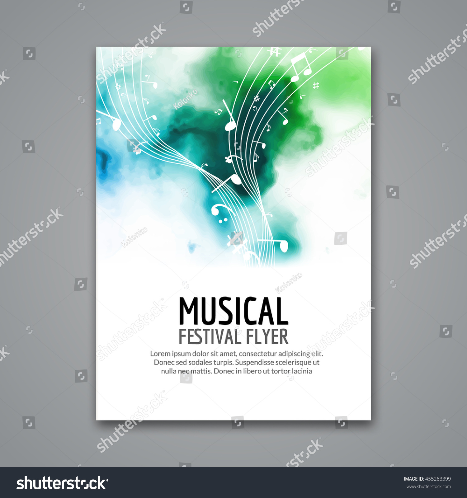 Colorful Vector Music Festival Concert Template Stock Vector