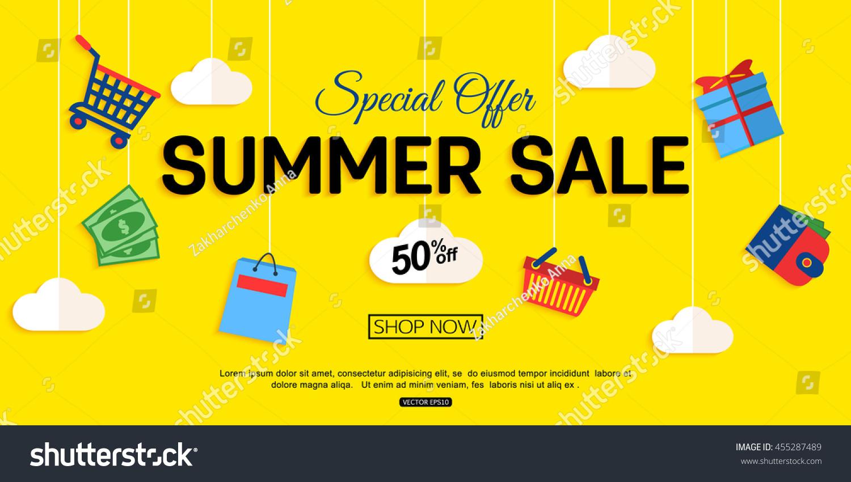 Sale Banner Design Vector Eps 10 Stock Vector 455287489 - Shutterstock