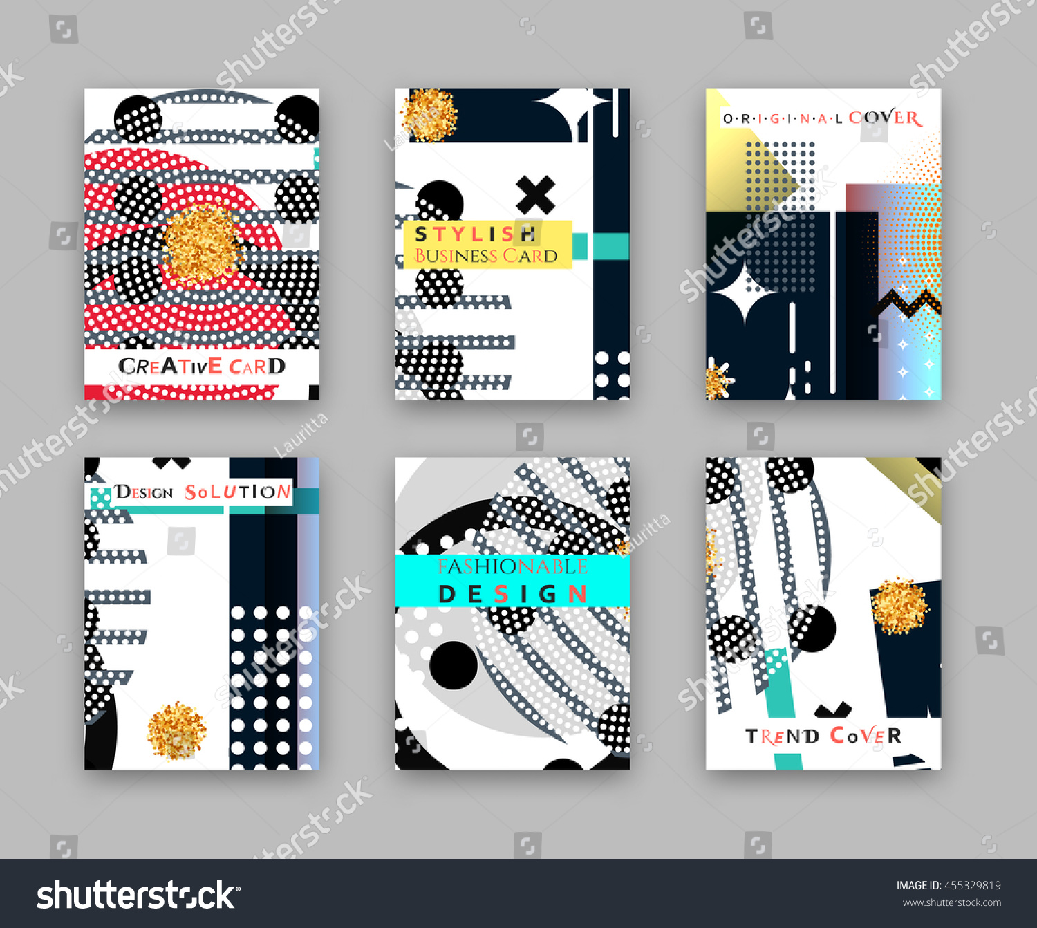 Fashionable Original Cover Stylish Business Card Stock Vector ...