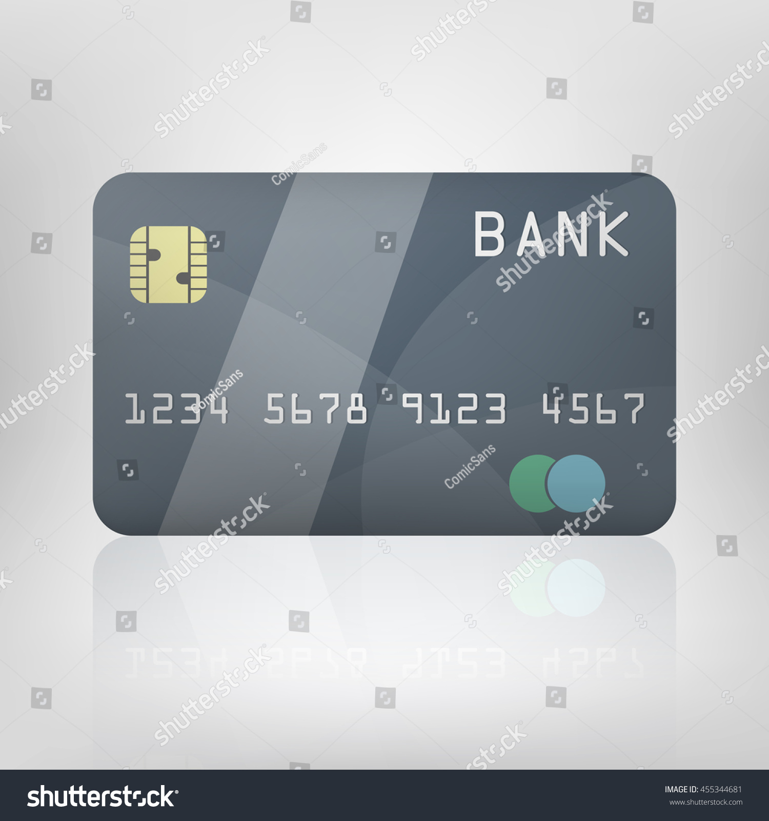 vector realistic illustration credit card business stock vector