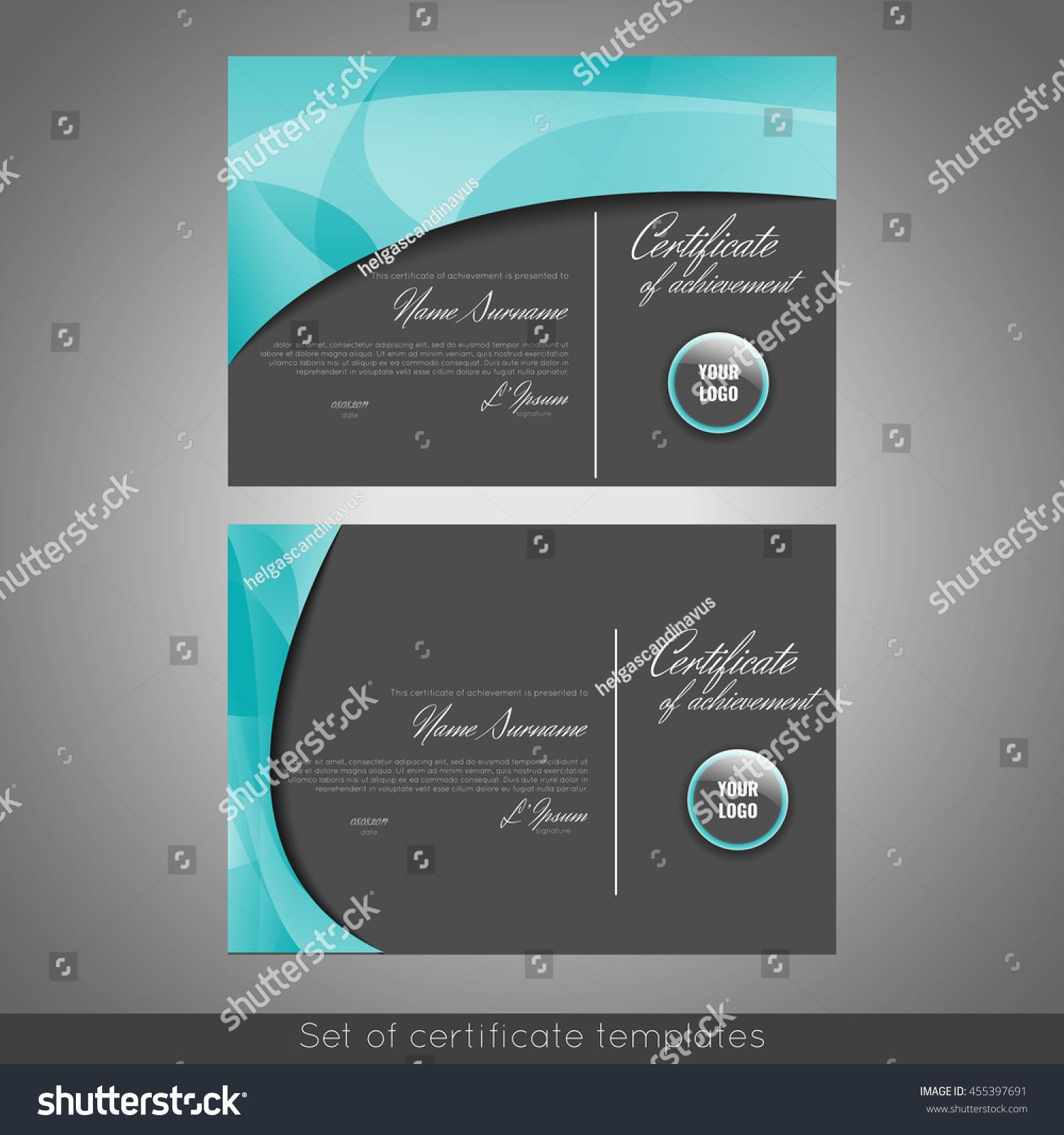 Set certificate templates appreciation completion achievement set of certificate templates appreciation completion achievement graduation diploma or award yadclub Choice Image