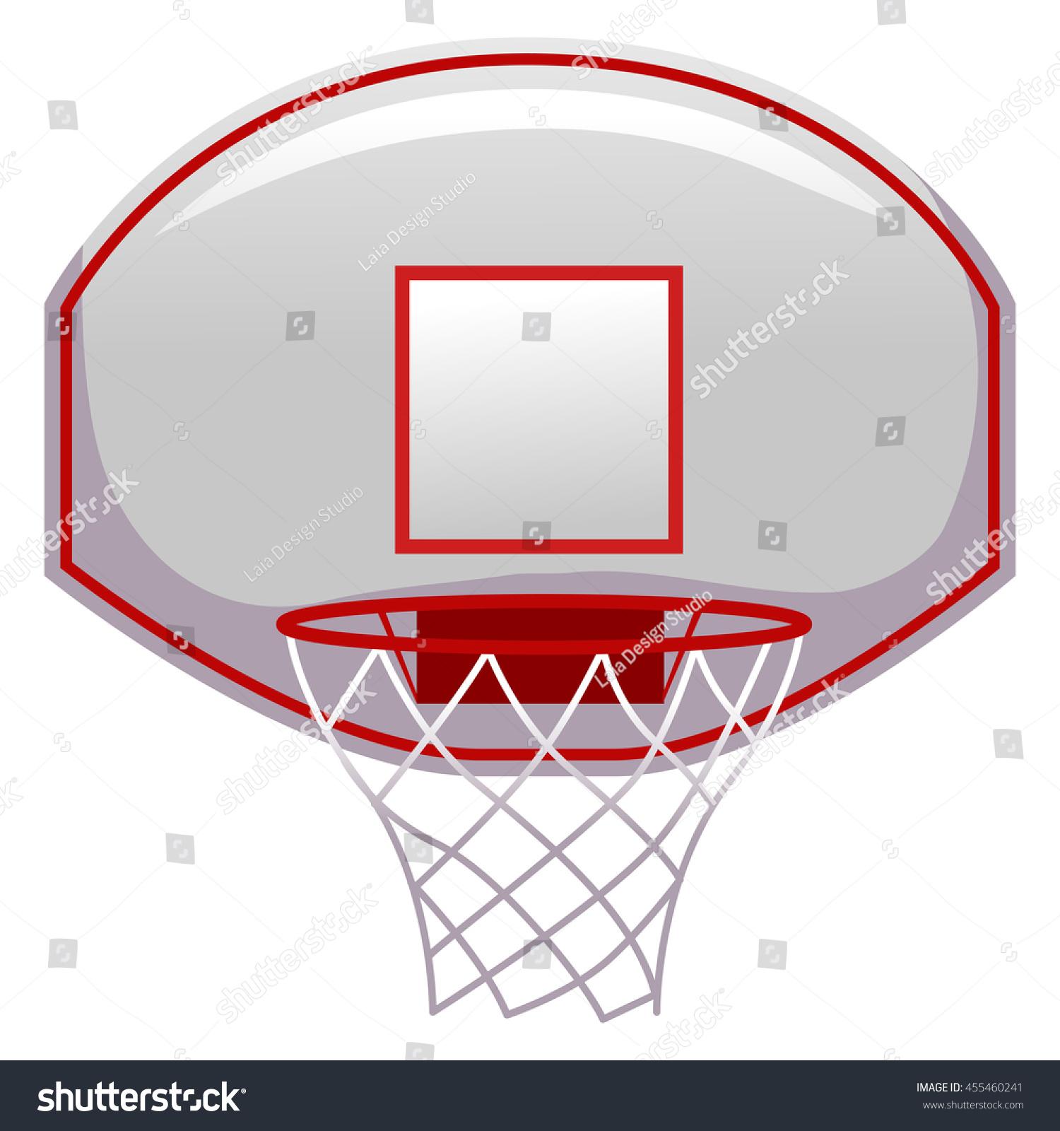 vector illustration basketball ring stock vector 455460241
