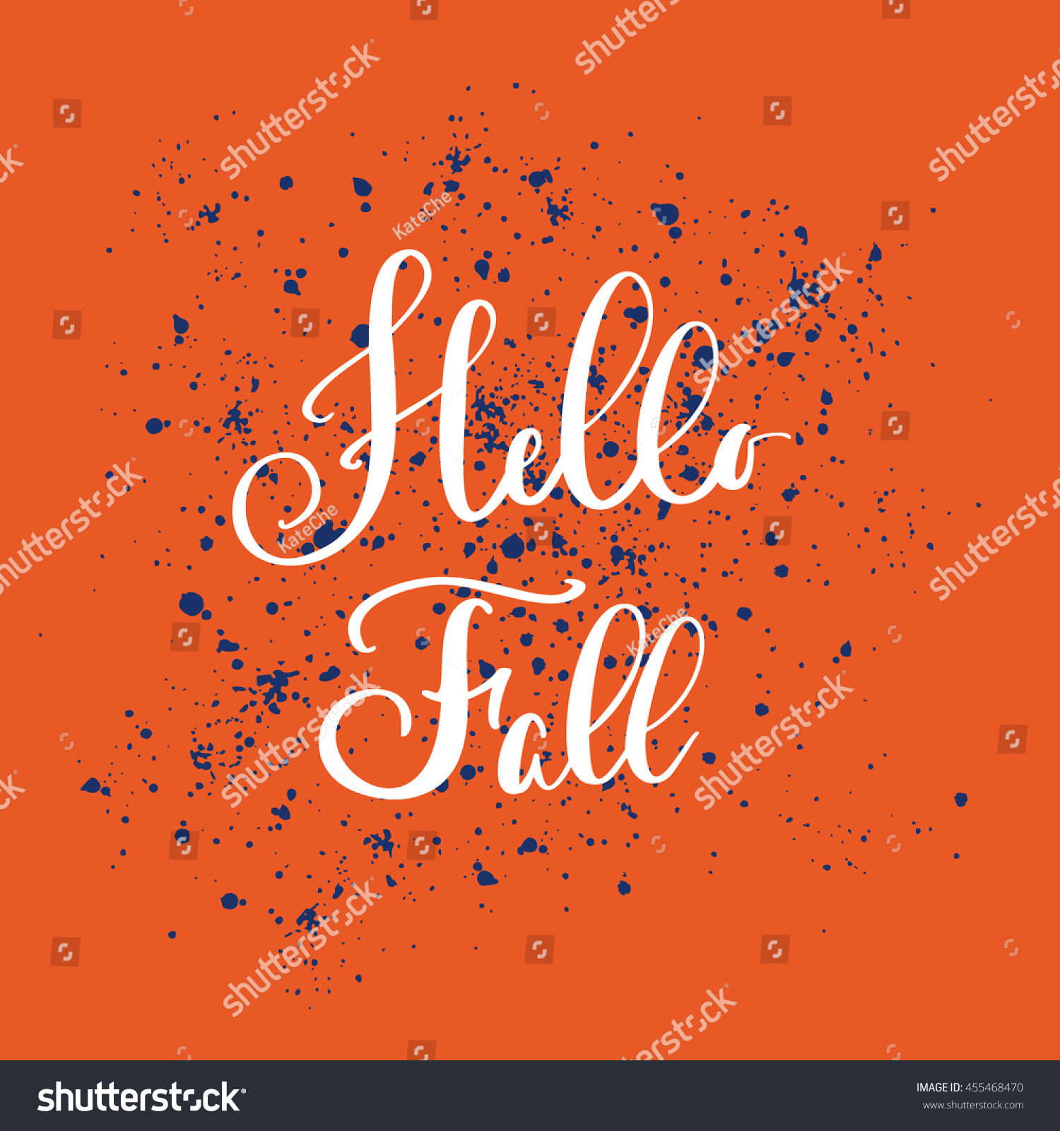 Hand Drawn Poster Saying About Fall Stock Vector 455468470
