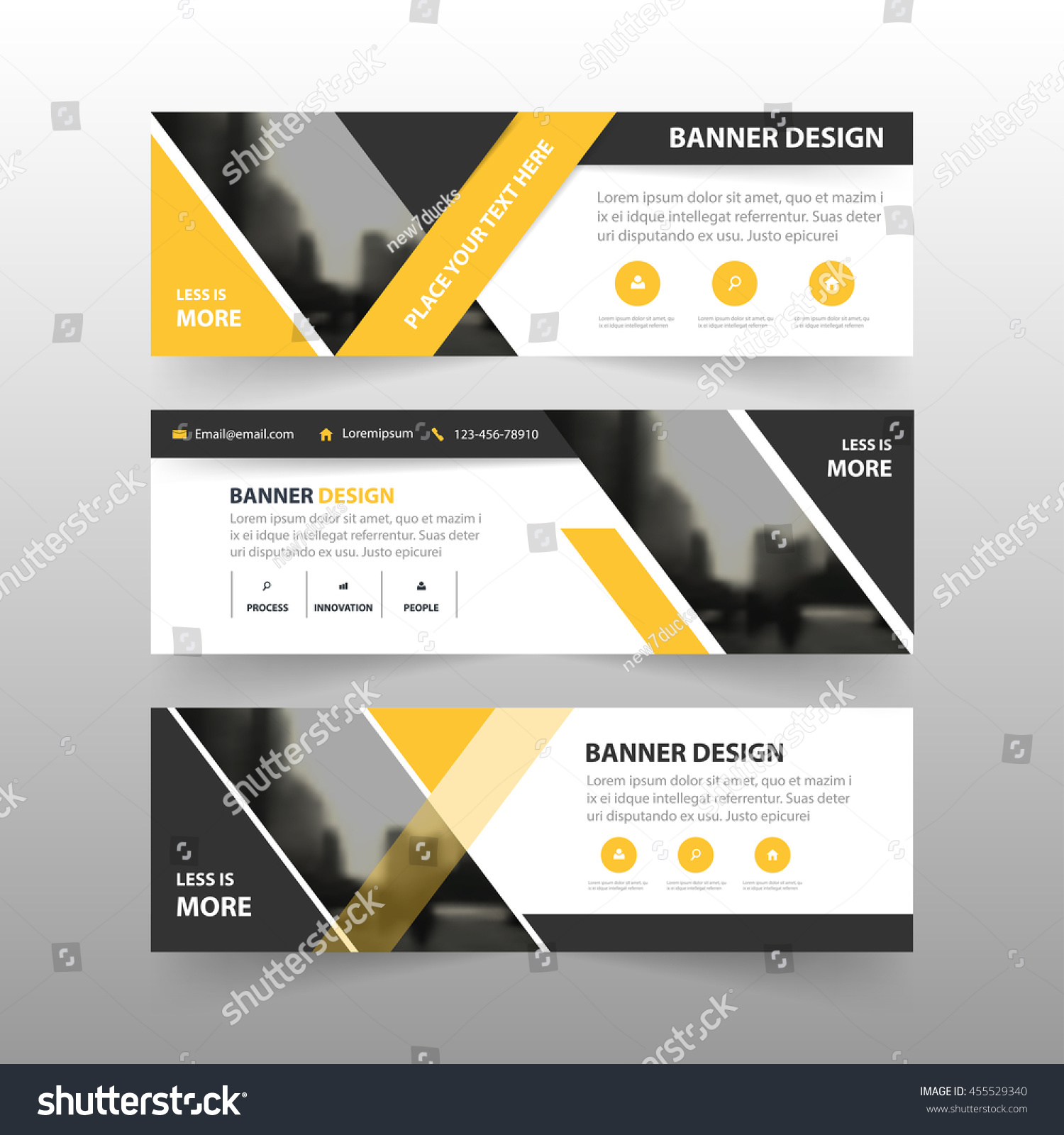 Yellow Black Triangle Corporate Business Banner Stock Vector ...