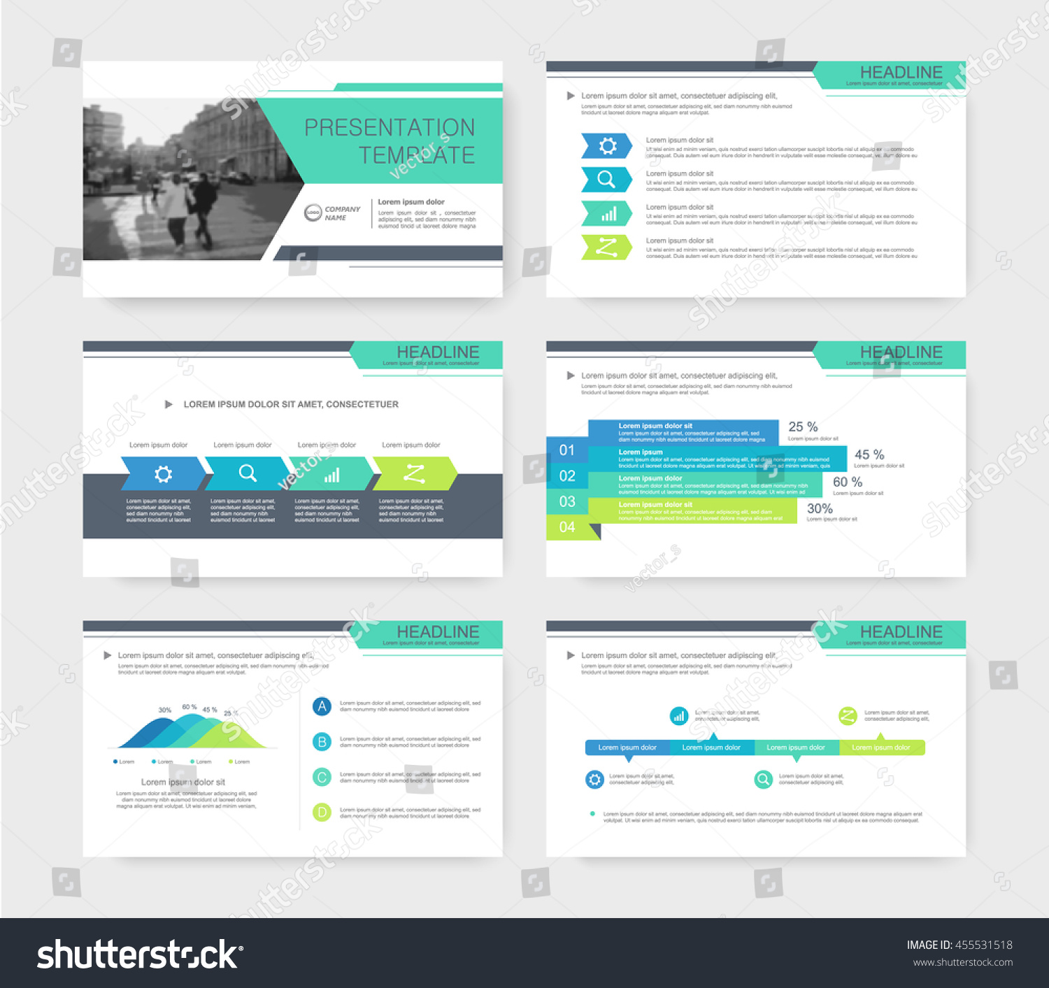 Colored Presentations Templates Leaflet Annual Report Stock ...