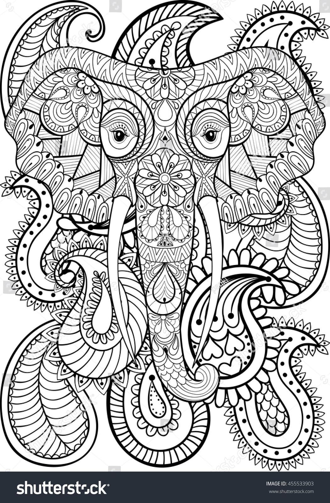 1000 images about coloring pages to print elephant on Coloring books for adults india
