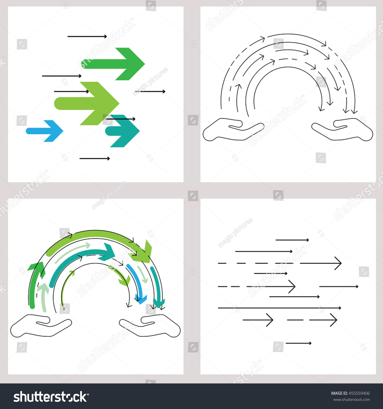 Vector illustration thin line flat design stock vector 455559406 vector illustration thin line flat design for knowledge exchange concept with two hands and flow biocorpaavc Image collections