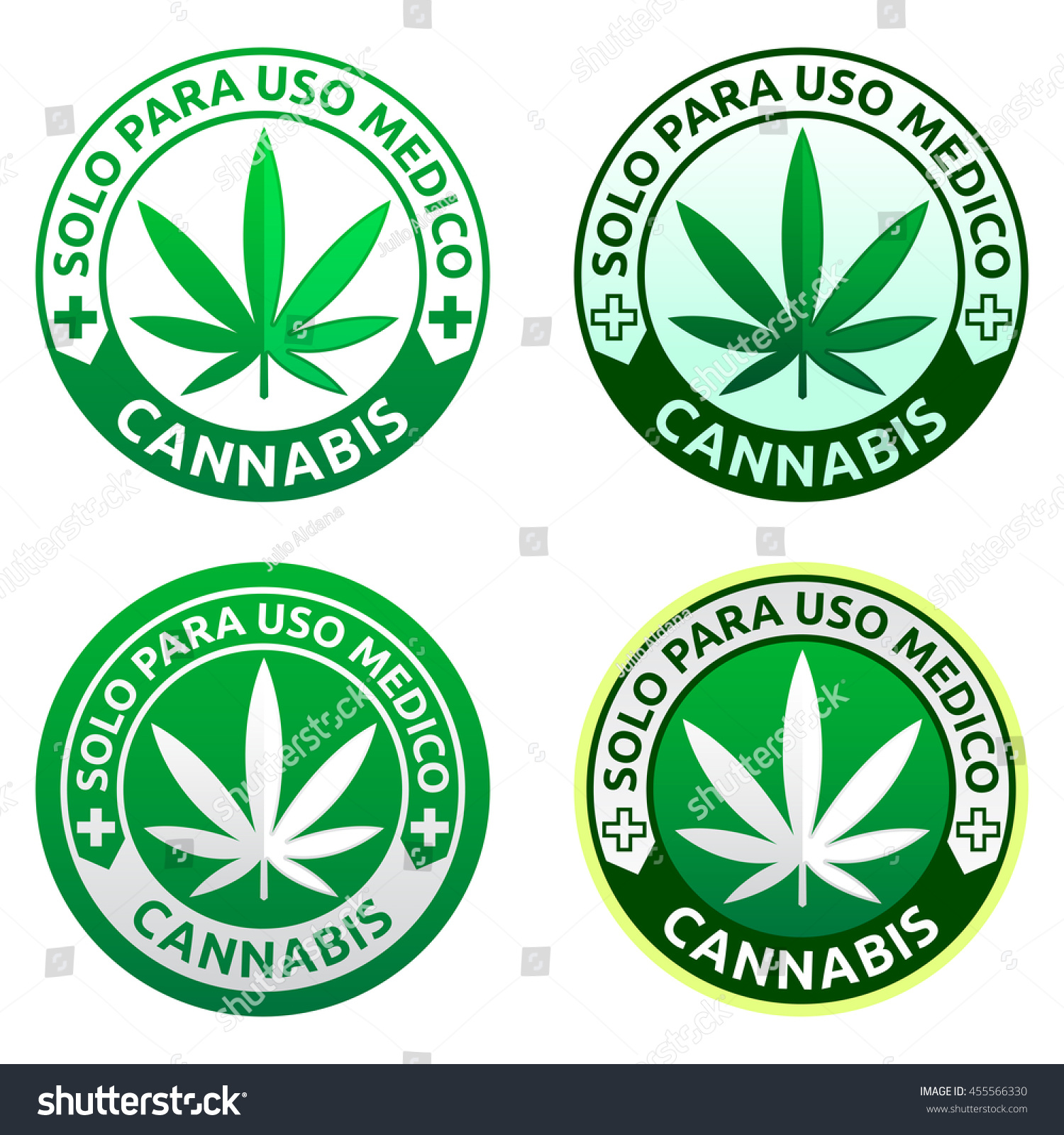 Royalty Free Cannabis Solo Para Uso Medico Only 455566330 Stock