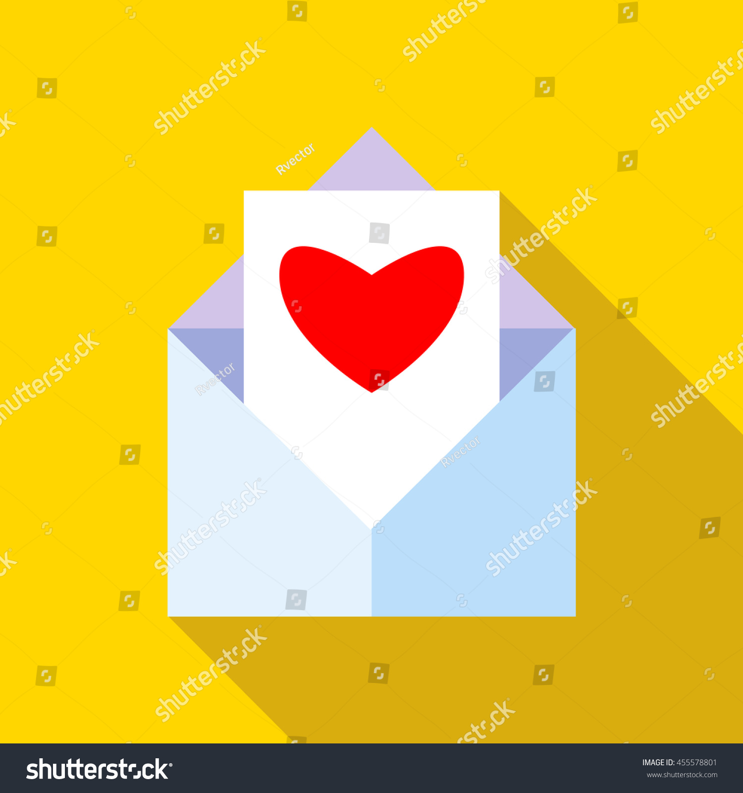 Love letter icon flat style long stock vector 455578801 shutterstock love letter icon in flat style with long shadow message symbol biocorpaavc