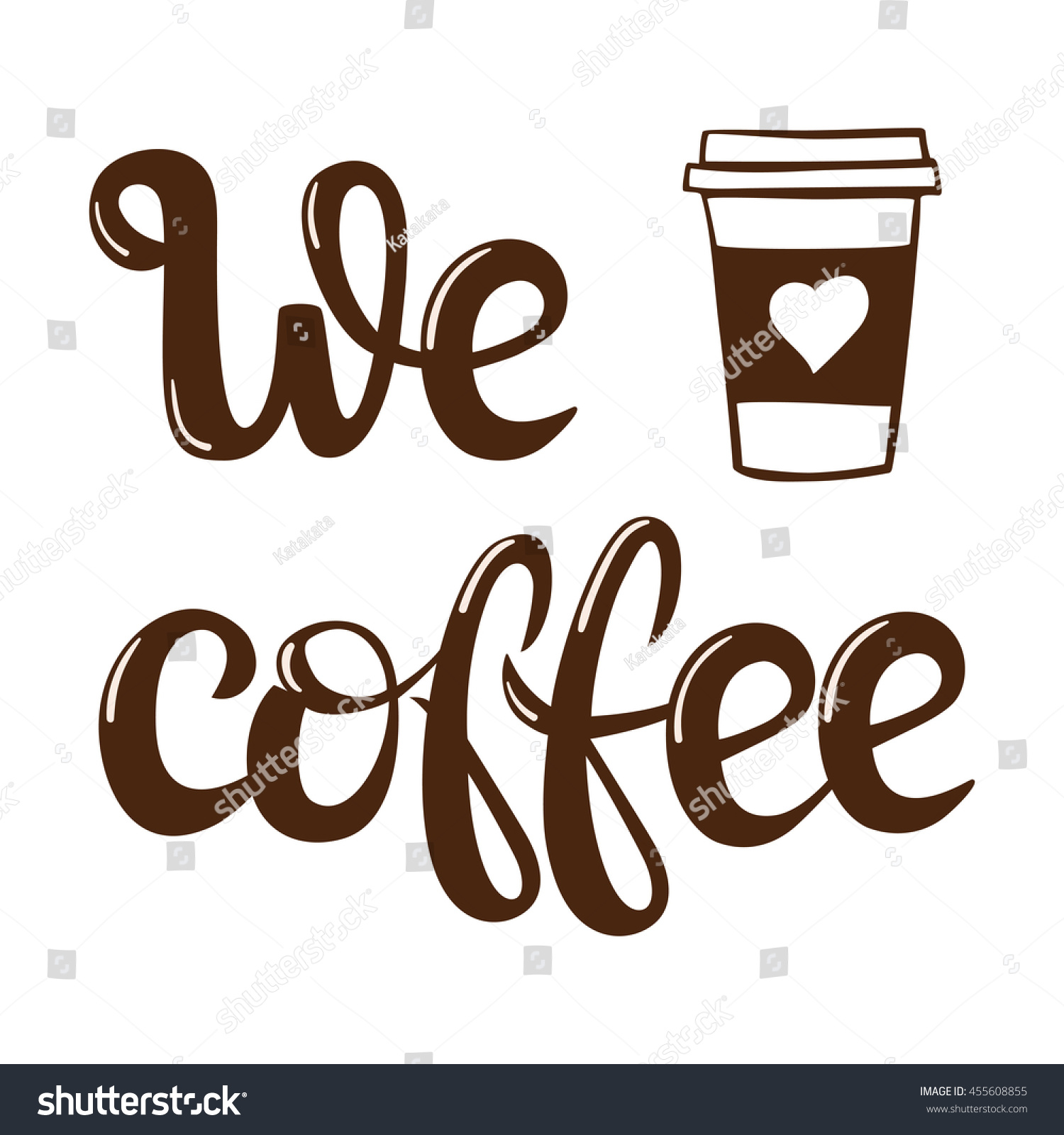 coffee menu lettering vector illustration handwritten stock vector