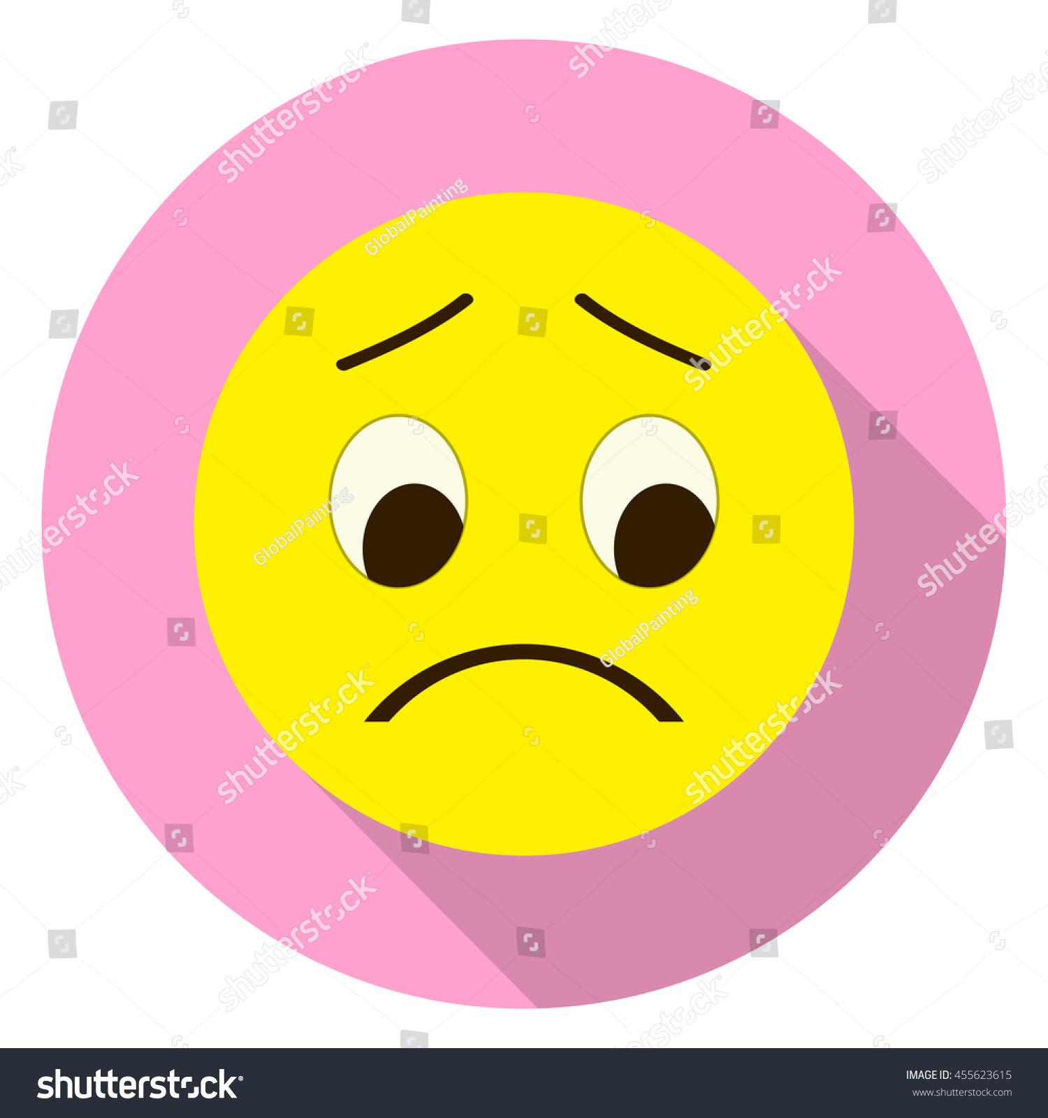 Emoticon Sad Face Sad Emoji Isolated Stock Vector 455623615 ...
