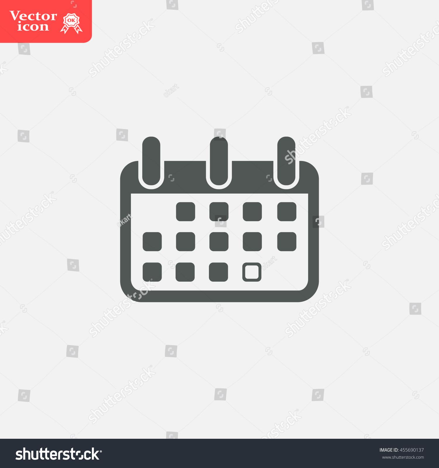 Calendar Flat Illustration : Calendar icon vector illustration flat design style