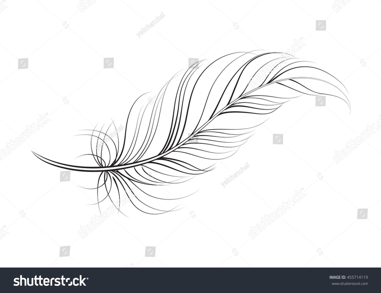 Line Art Feather : Clip art feather vector stock shutterstock