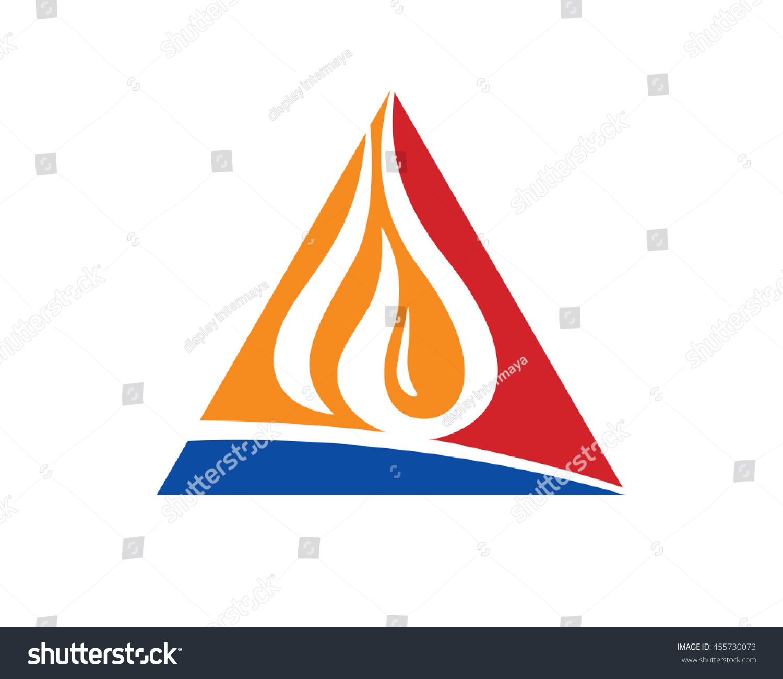 Delta Triangle Oil Gas Rig Symbol Stock Vector Royalty Free