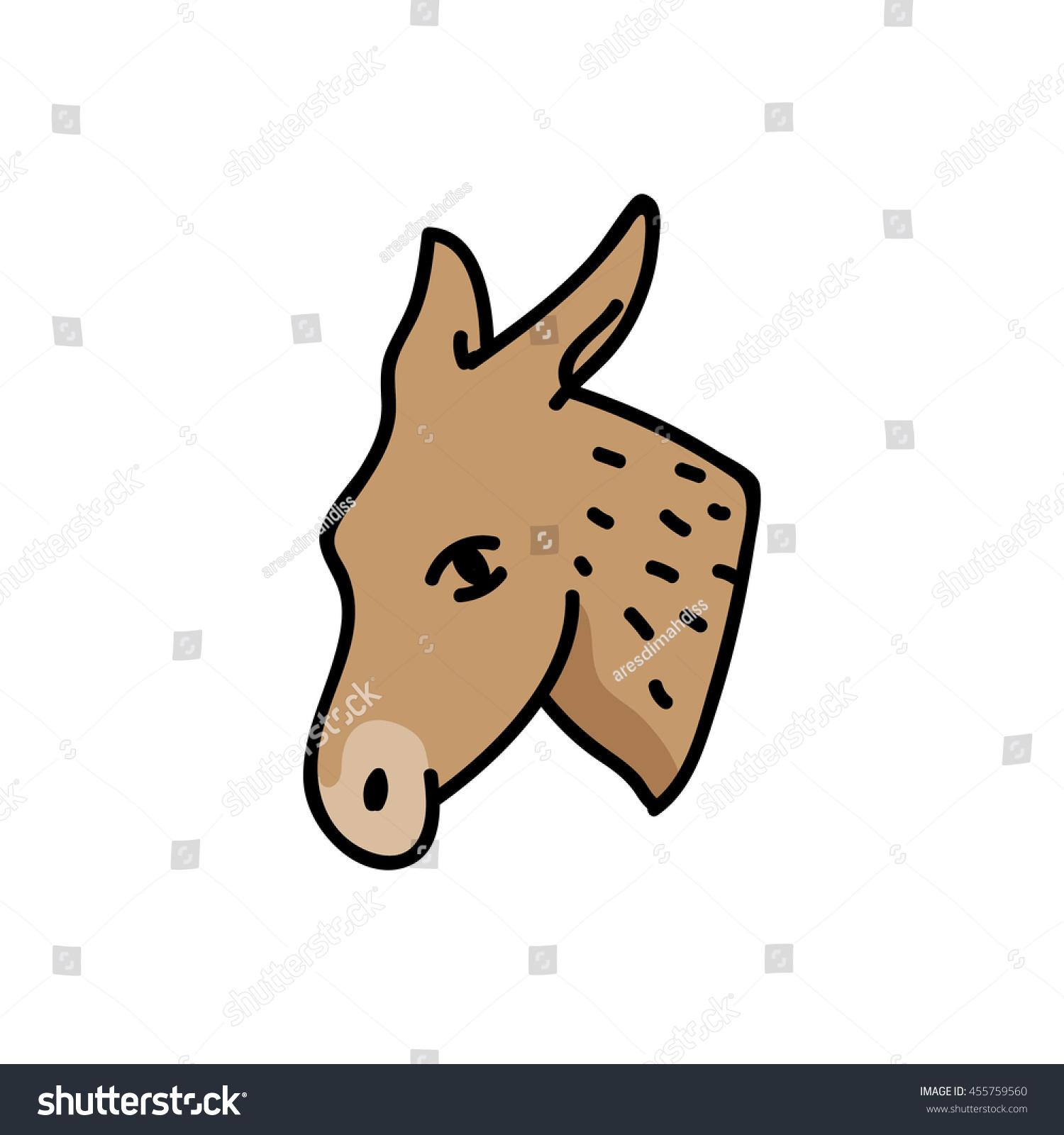 Donkey head mascot democratic party symbol stock vector 455759560 donkey head mascot democratic party symbol usa biocorpaavc Image collections