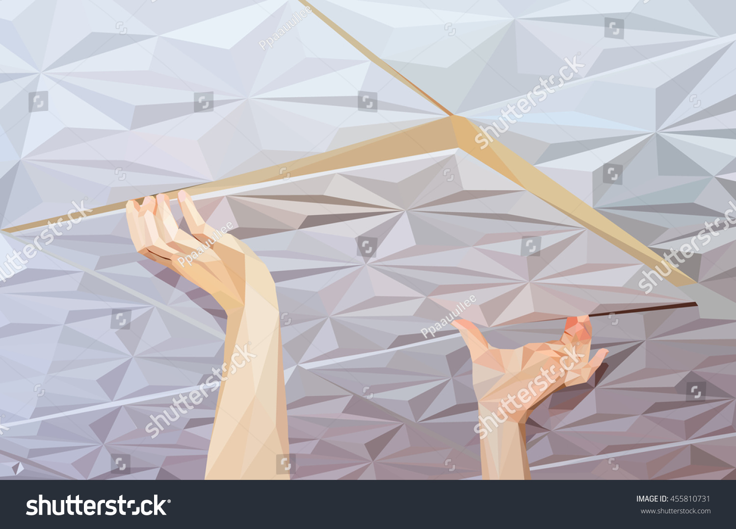 Installation ceiling tiles made polystyrene stock vector hd royalty installation of ceiling tiles made of polystyrene dailygadgetfo Gallery