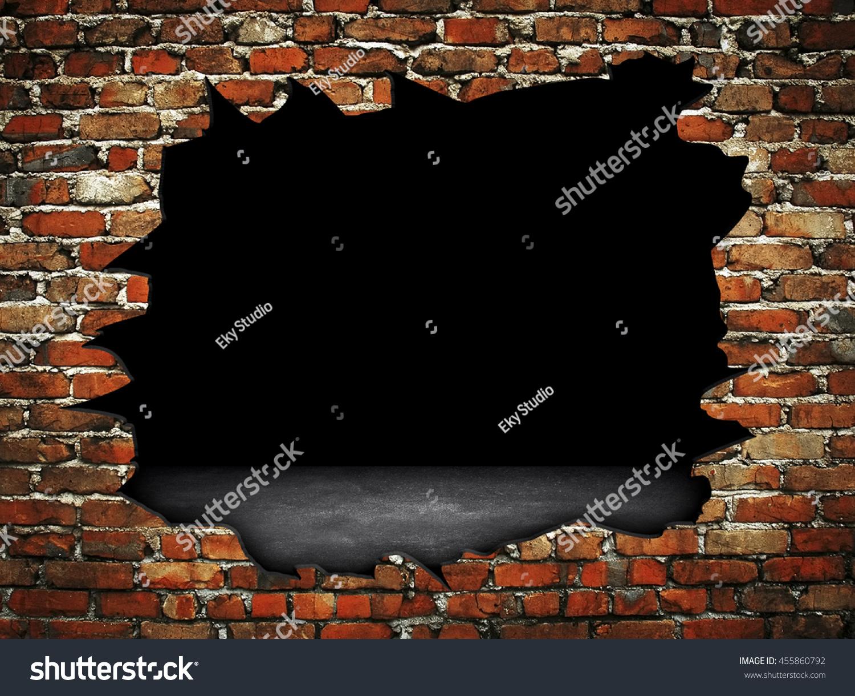 壊れたレンガの壁の背景 のイラスト素材 455860792