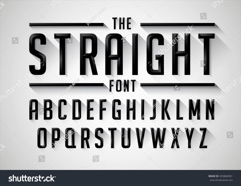 vector stylized bold font alphabet stock vector 455868361