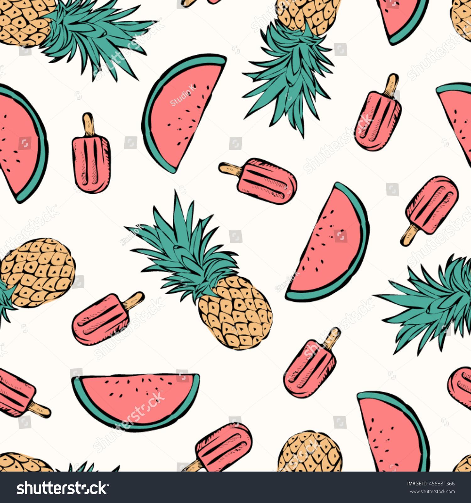 Tropical Summer Print Tshirt Apparel Textile Stock Vector (Royalty