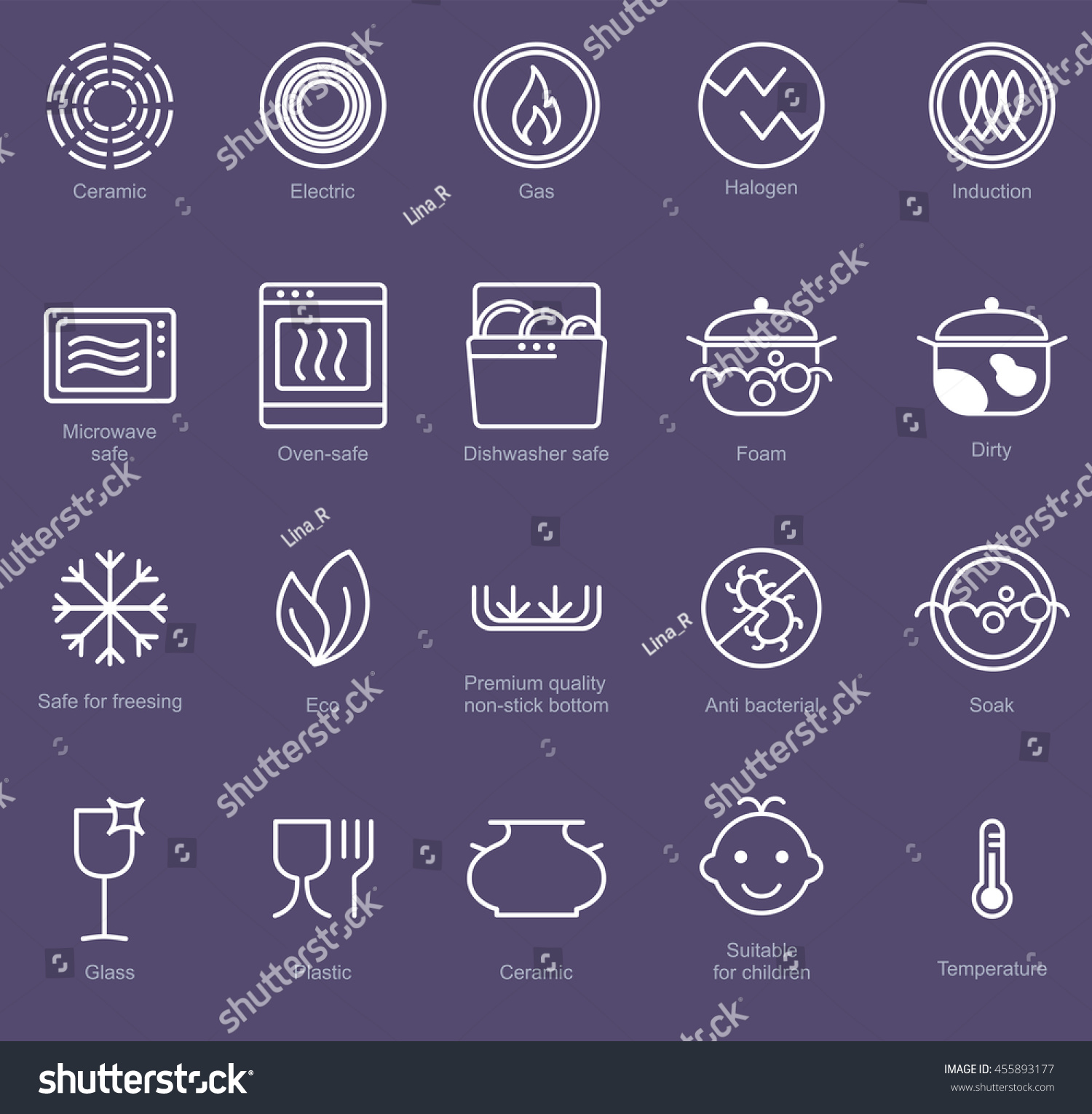 Symbols food grade metal indicate properties stock vector symbols of food grade metal indicate properties and destination of a metallic utensil properties of biocorpaavc Images