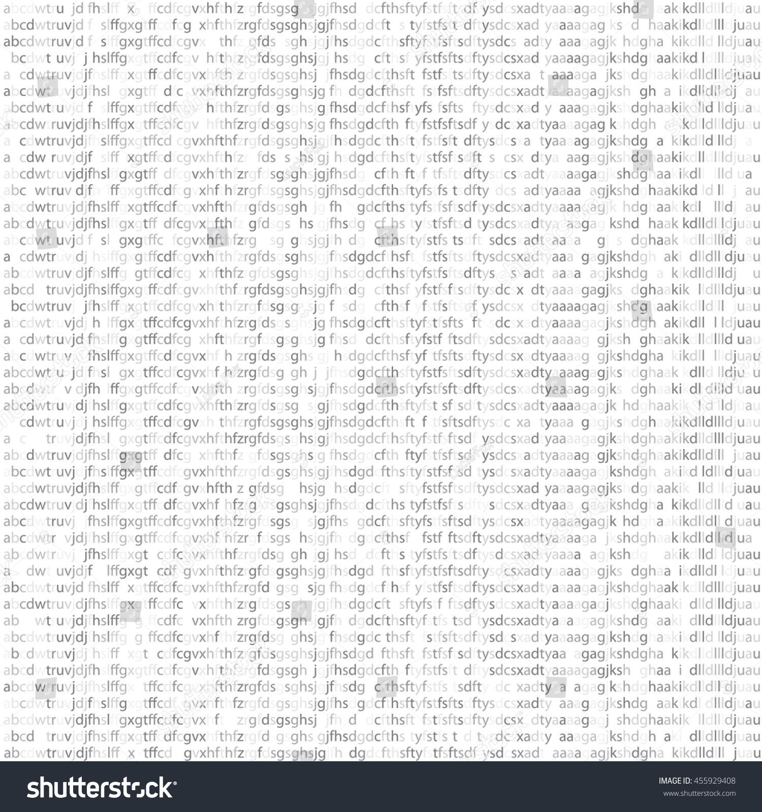 Seamless Texture Random Letters Symbols Computer Stock Vector