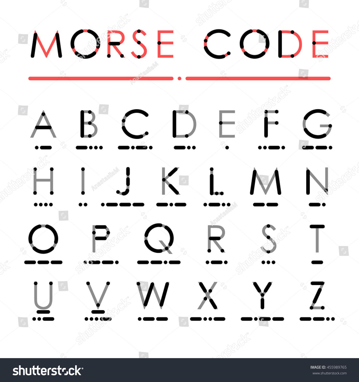 Latin alphabet international morse code visual stock illustration latin alphabet in international morse code visual presentation of use dots and dashes for easy buycottarizona Choice Image
