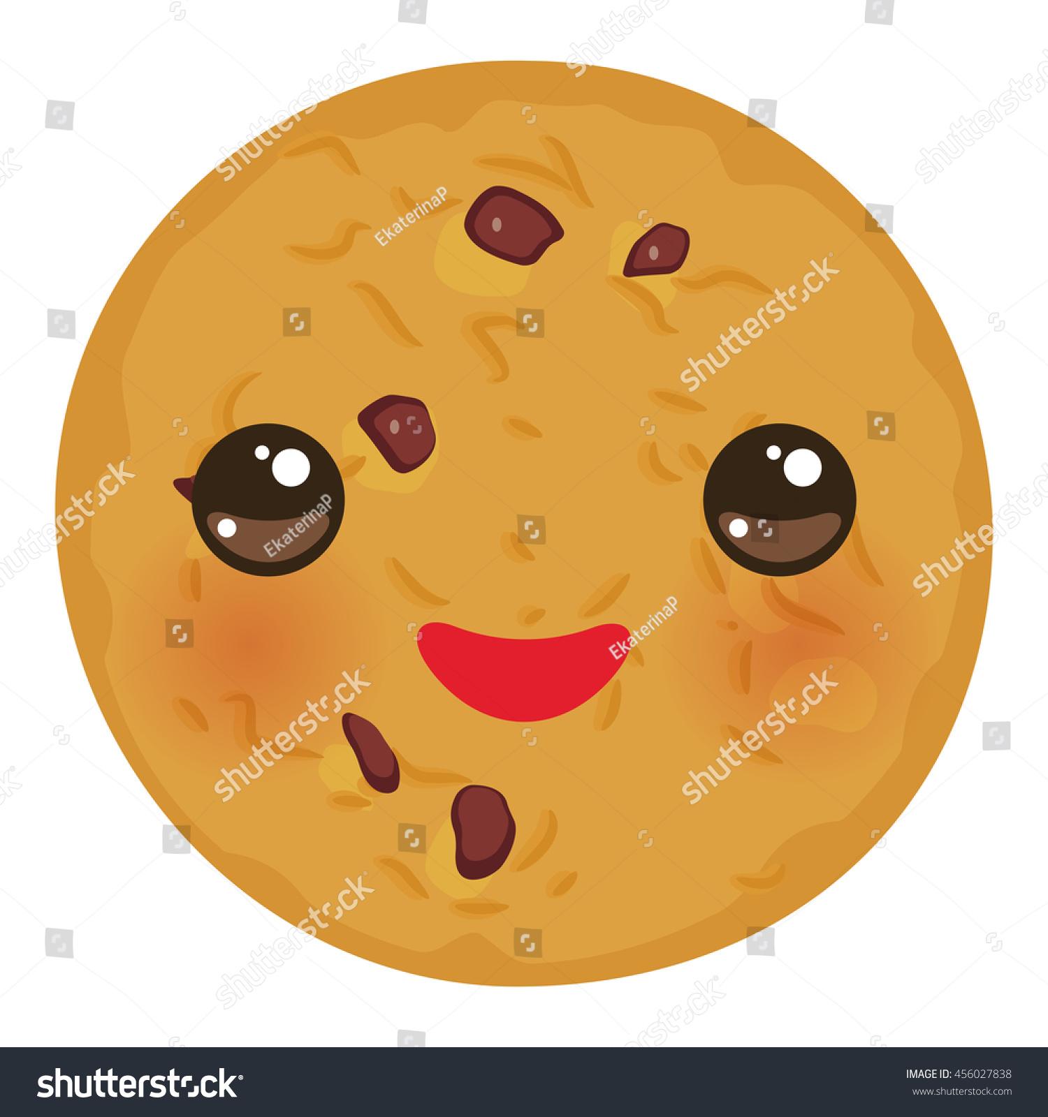 Cute cookie cartoon