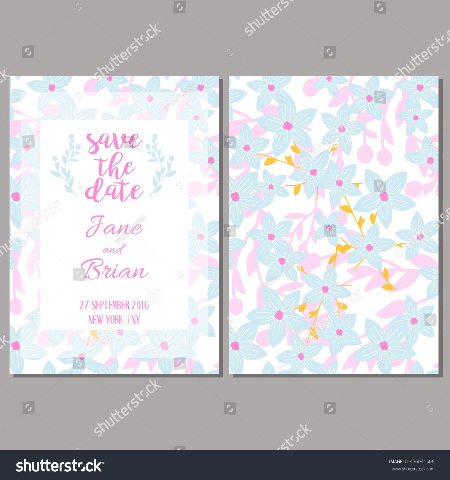 Save The Data Card Template Wedding Invitation Baby Shower Menu
