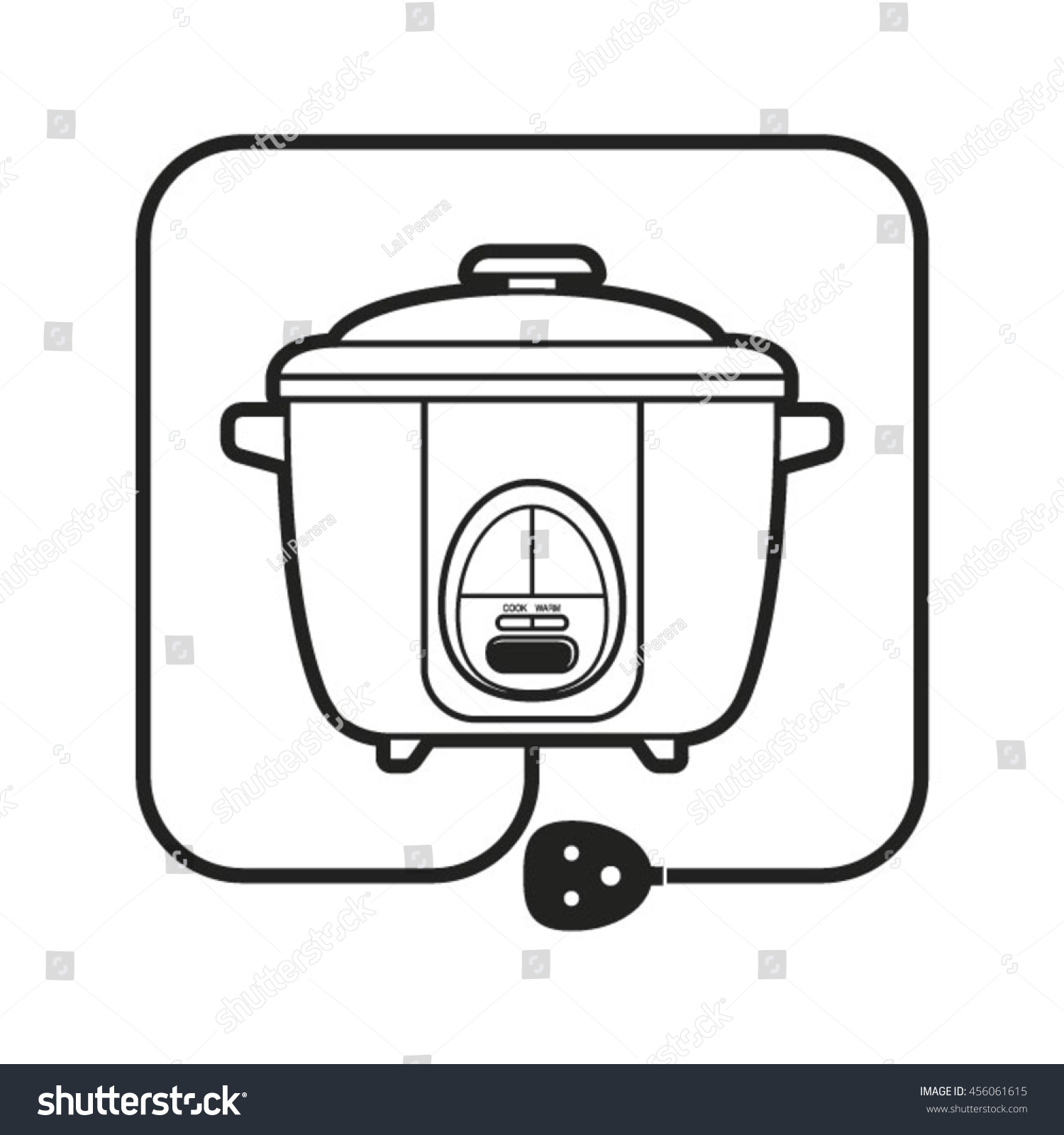 Rice Cooker Electrical Drawing Wiring Diagram Outlined Electric Power Cordvector Stock Vector Royalty Rh