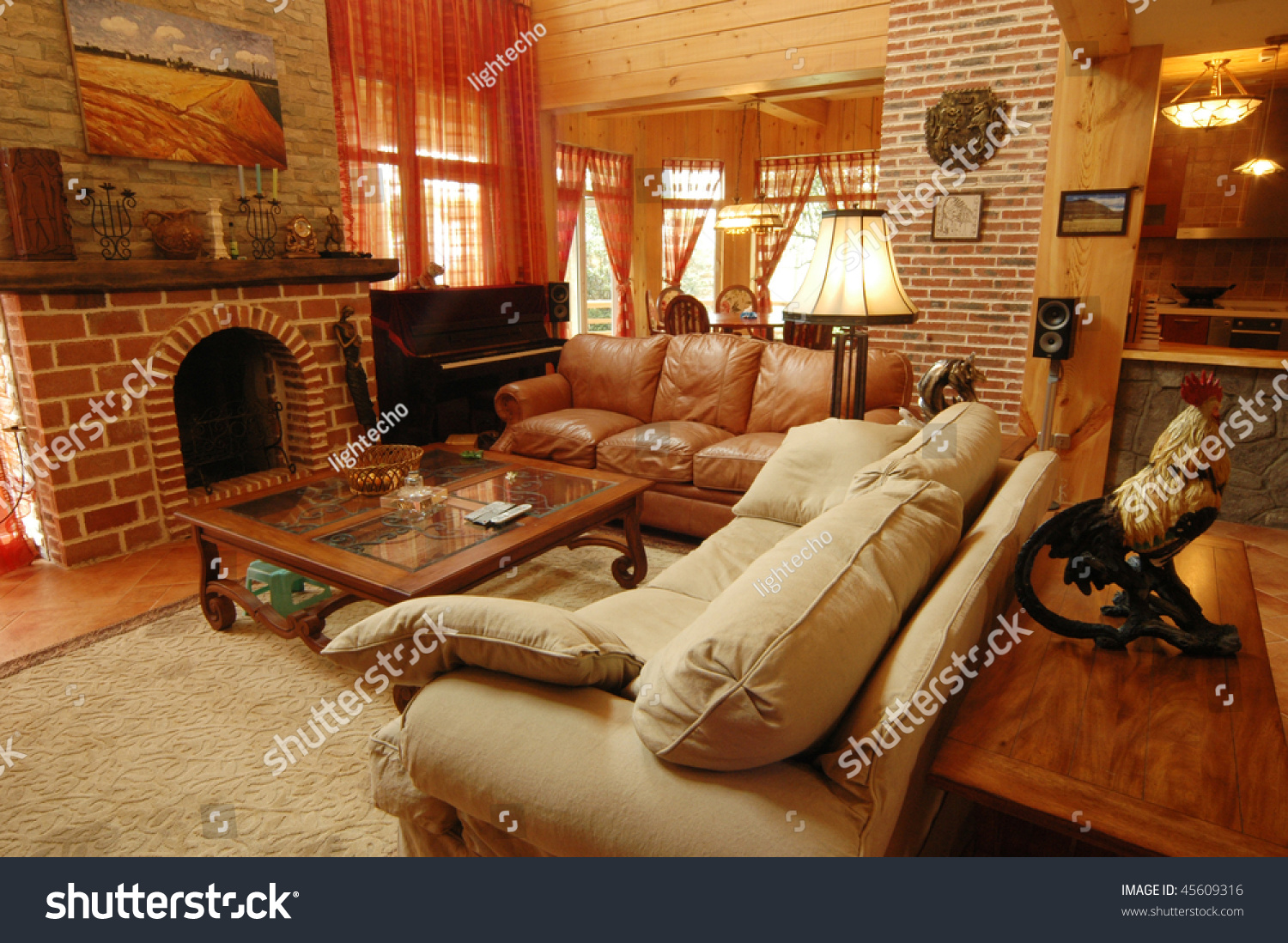 Living Room Western Style Stock Image | Download Now