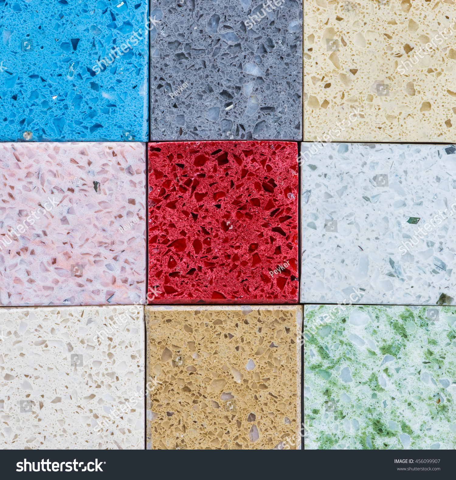Tiled Flooring Tiles Colored Quartz Stock Photo Edit Now 456099907